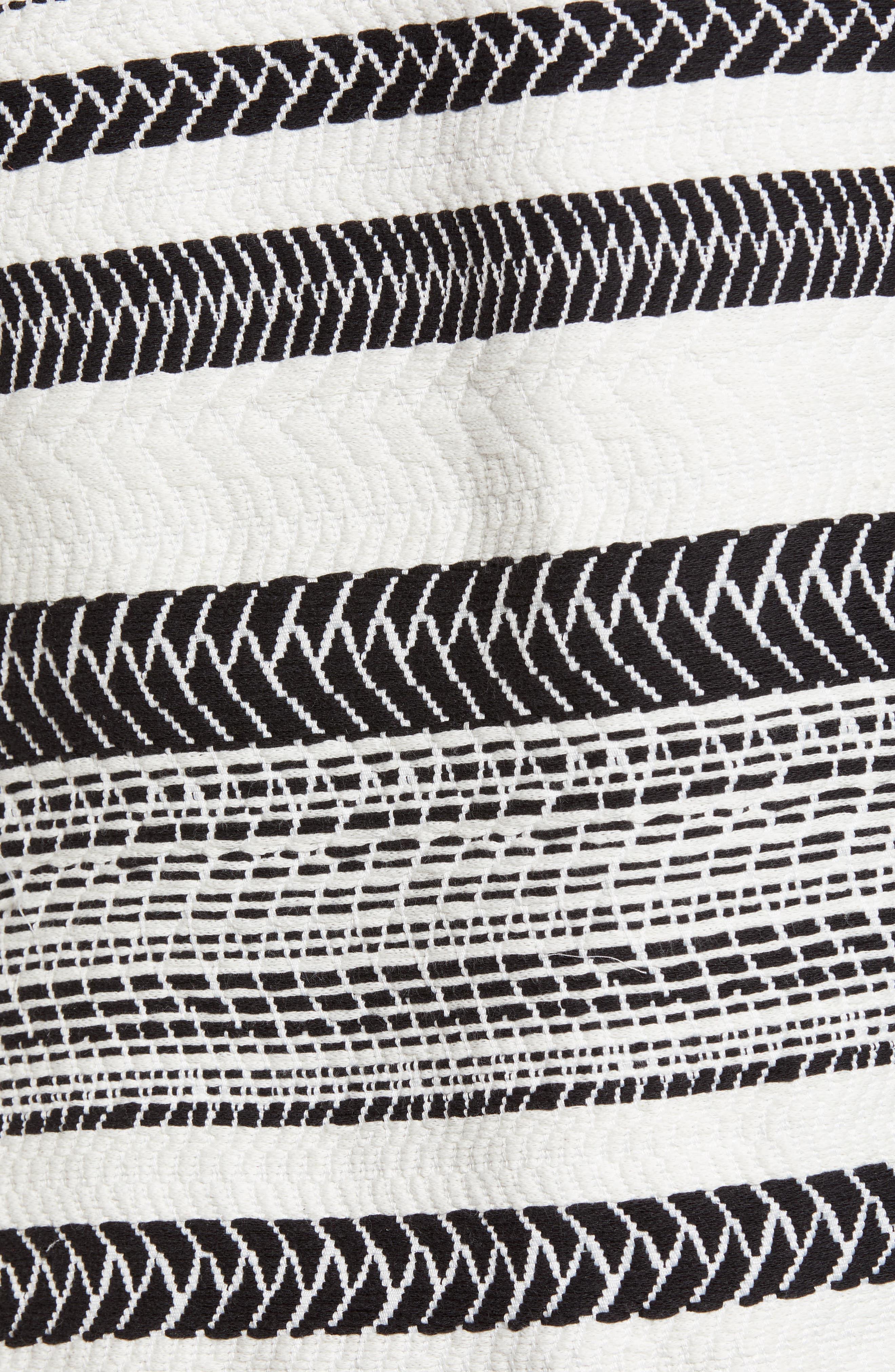 Patterned Cotton Blend Topper,                             Alternate thumbnail 6, color,                             Black- Ivory Herringbone