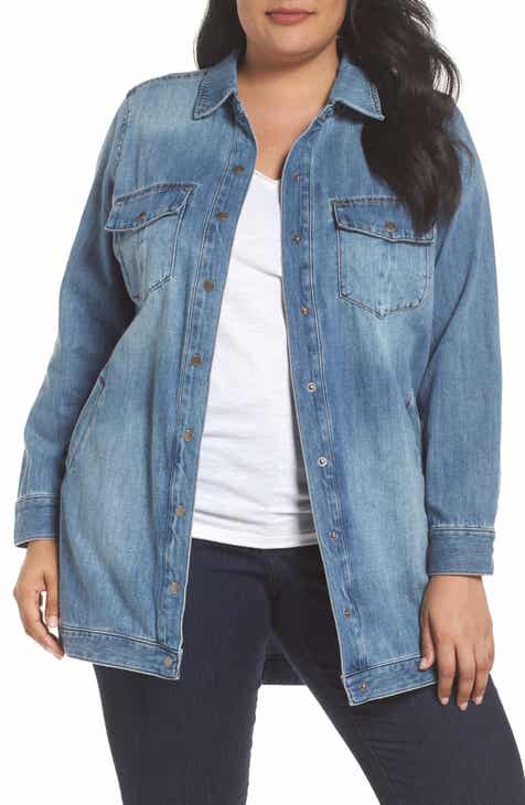 a6393717d08d8 Liverpool Long Denim Shirt Jacket (Plus Size)