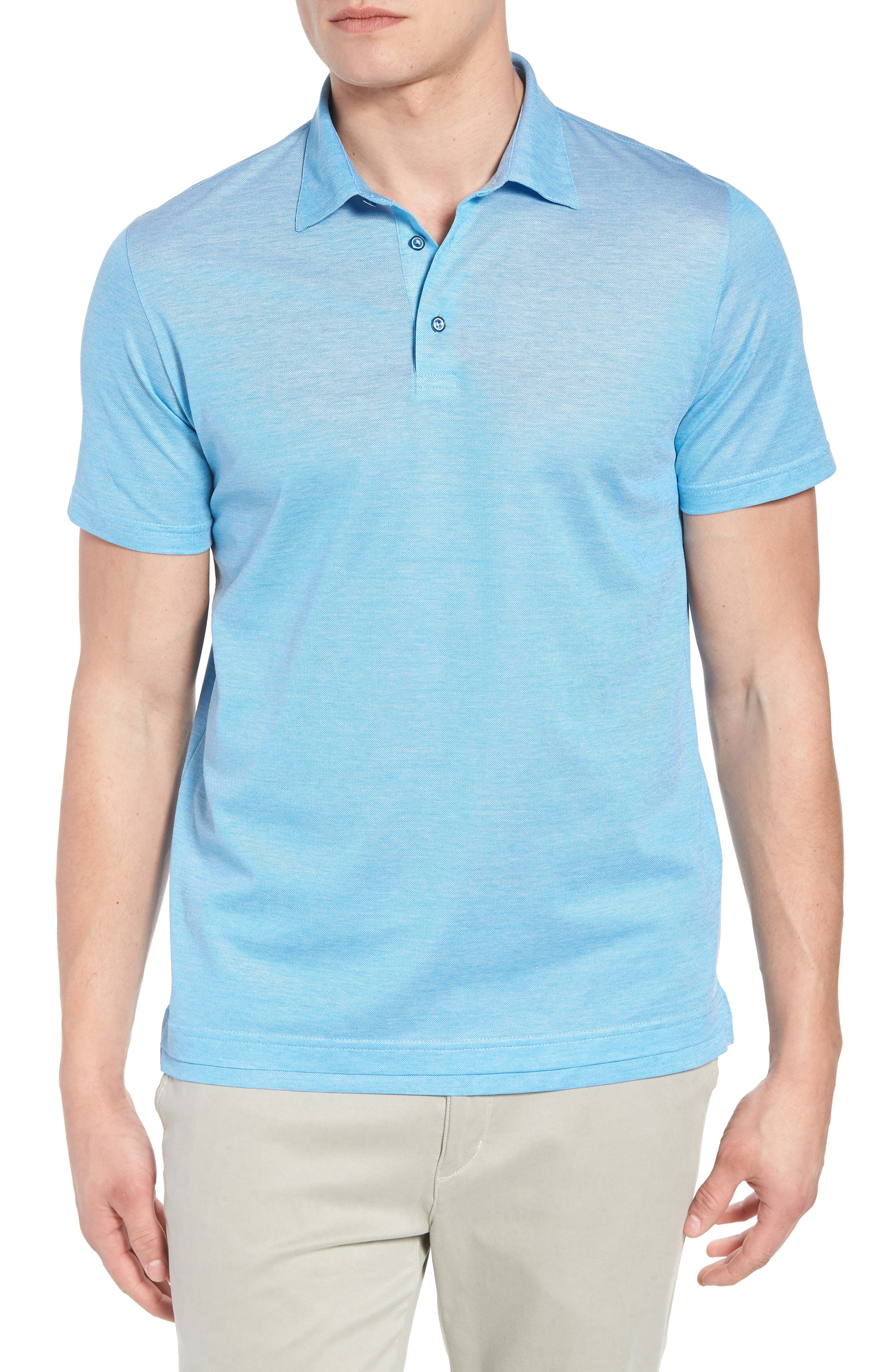 Cotton Polo,                         Main,                         color, Laguna