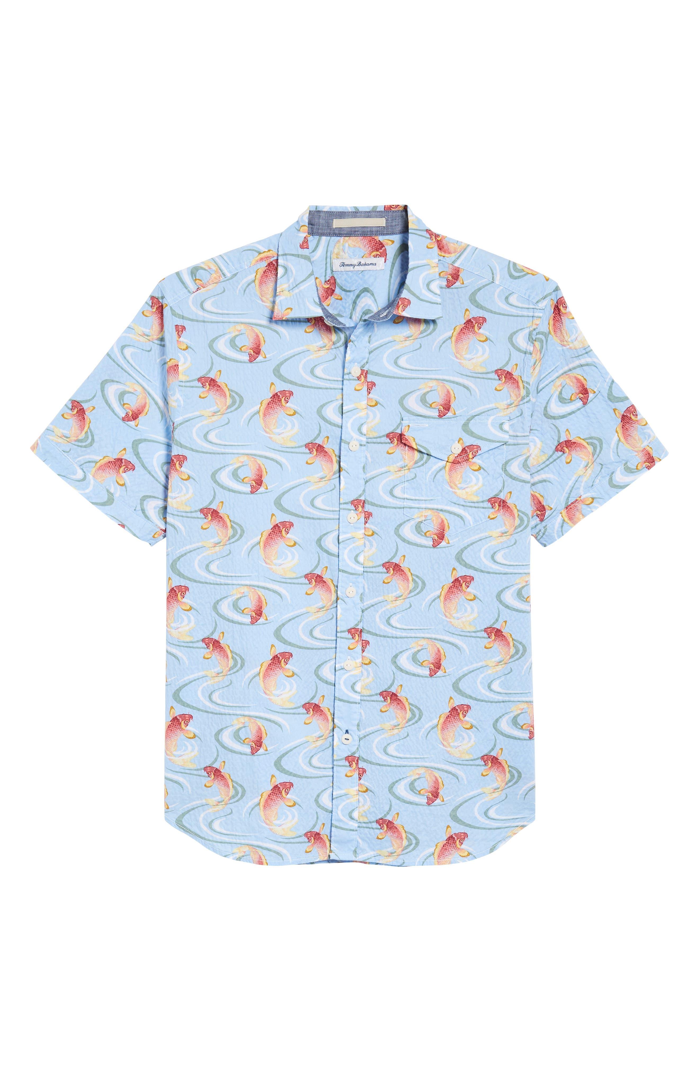 The Kois of Summer Regular Fit Camp Shirt,                             Alternate thumbnail 6, color,                             Light Sky
