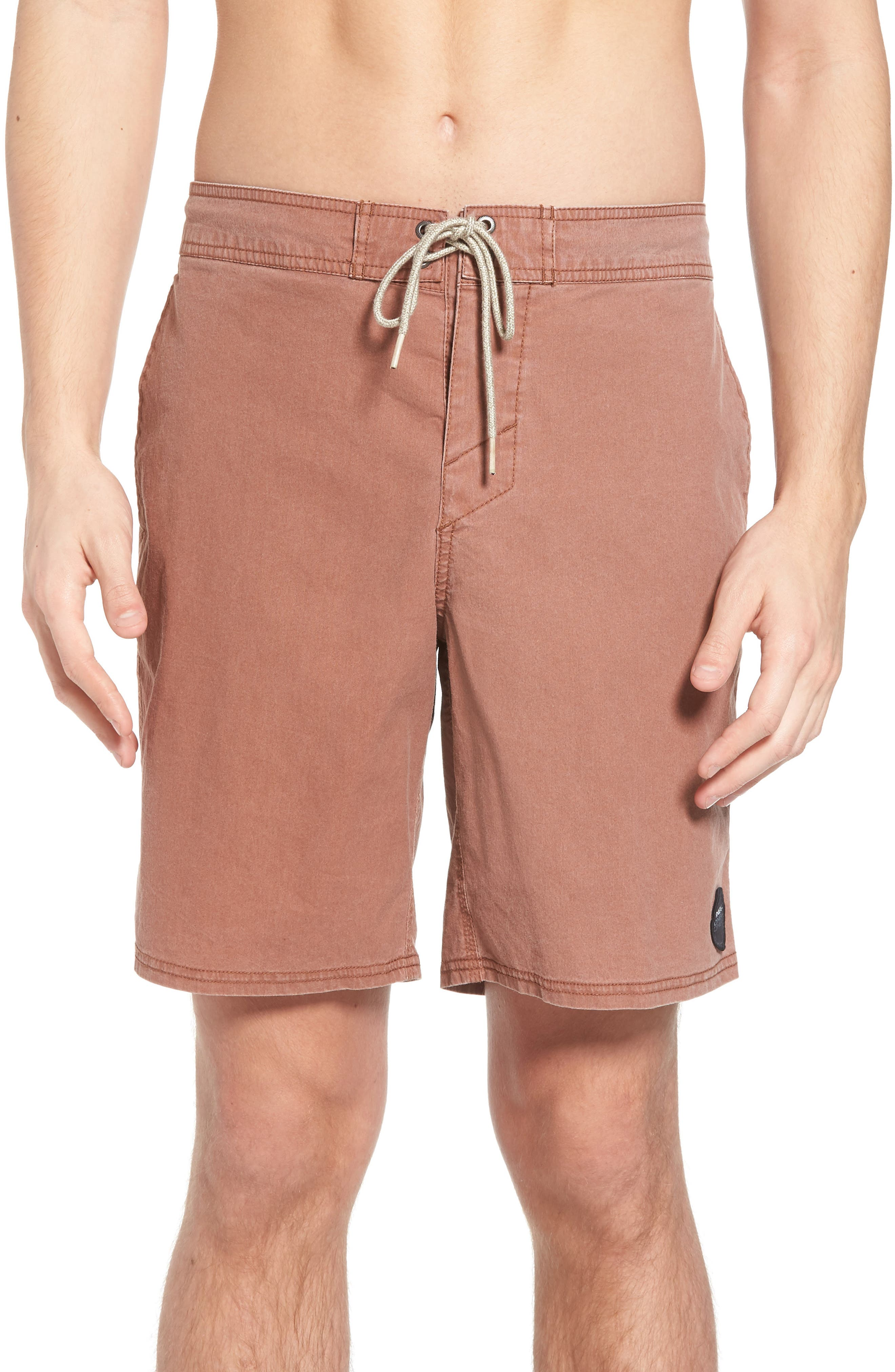 Faded Cruzer Board Shorts,                         Main,                         color, Russet