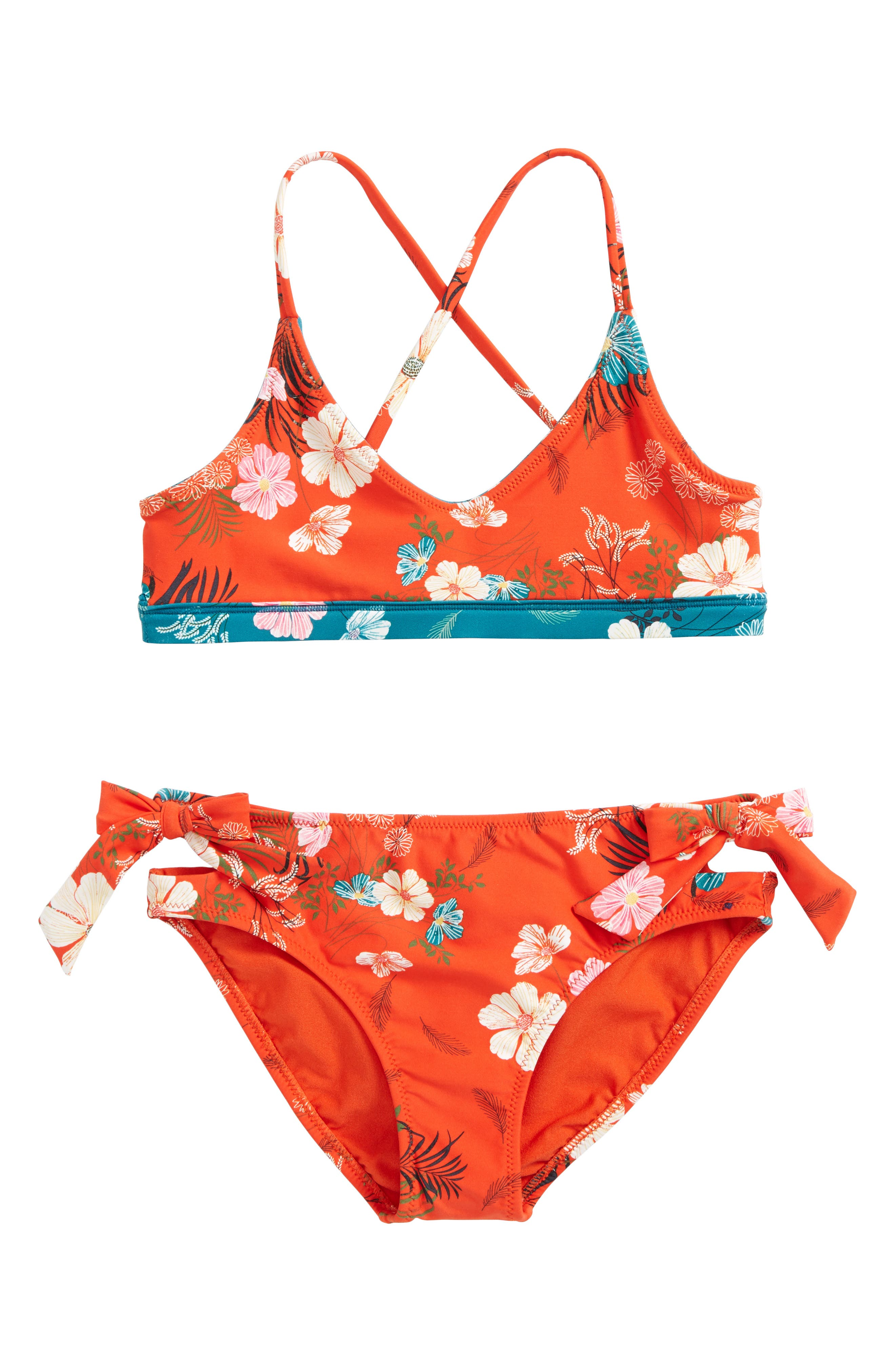Lucy Reversible Two-Piece Swimsuit,                             Alternate thumbnail 3, color,                             Org- Tigerlily