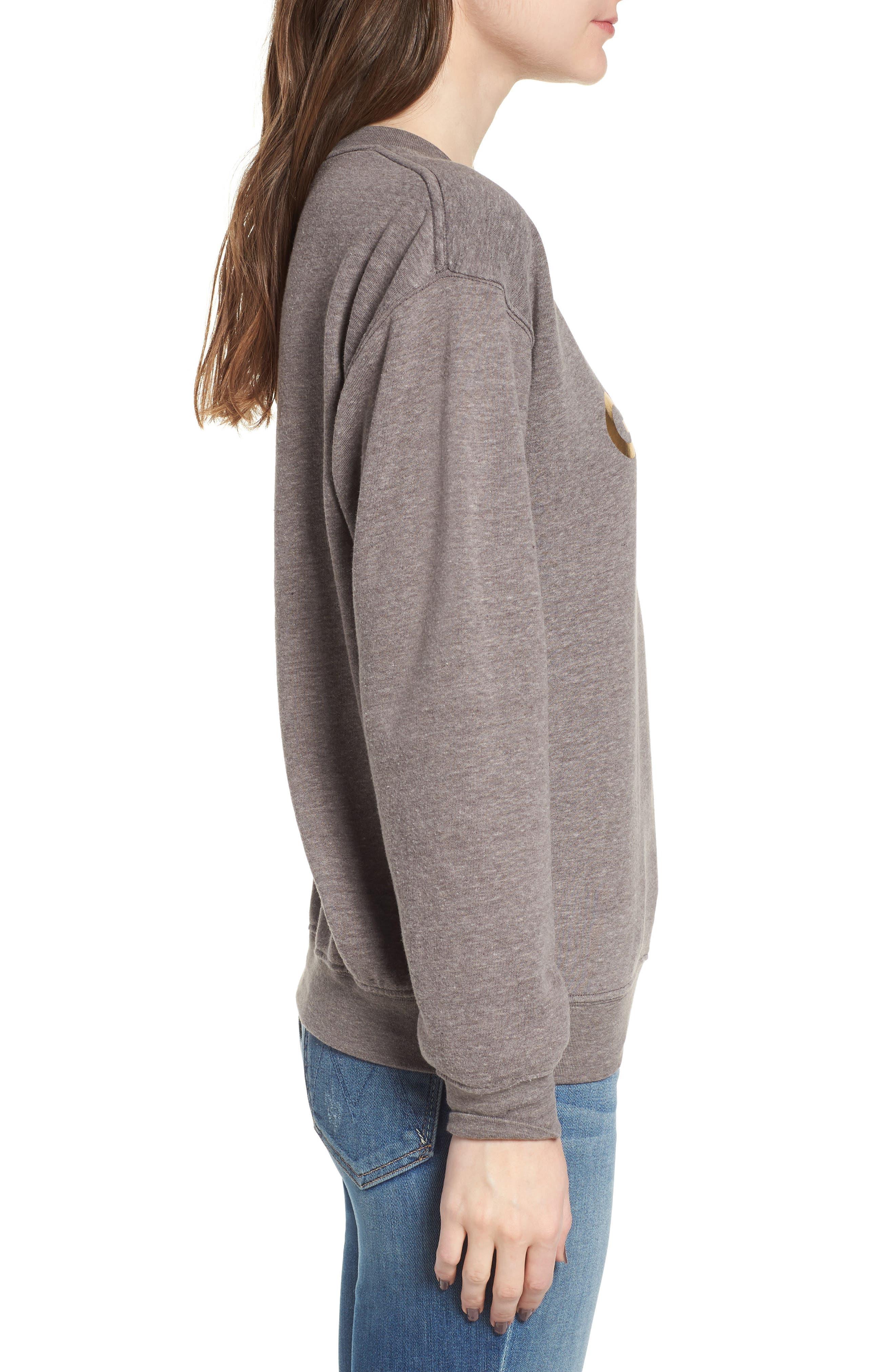 Golden Girls Willow Sweatshirt,                             Alternate thumbnail 3, color,                             Heather Grey
