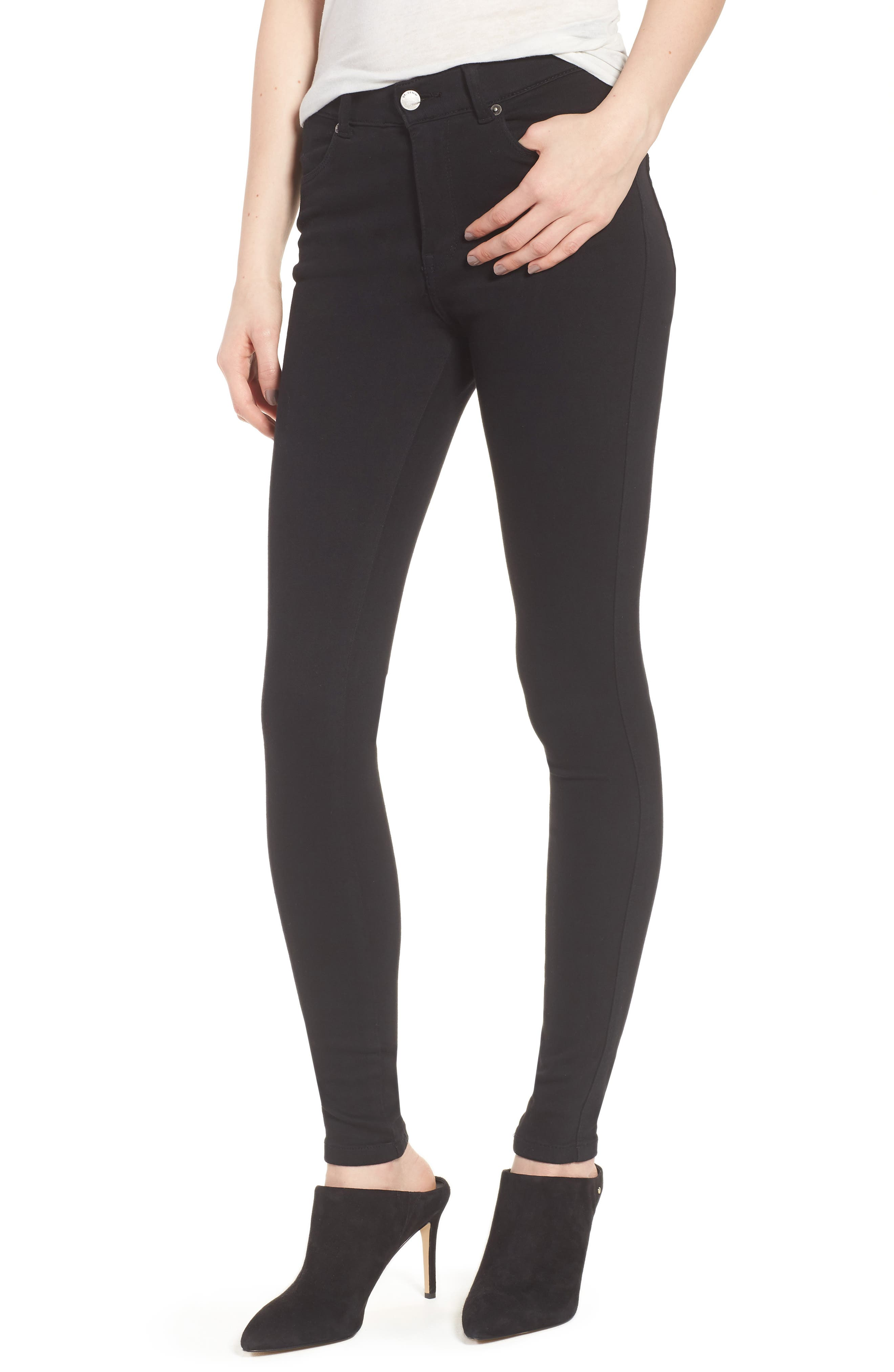 Lexy Skinny Jeans,                         Main,                         color, Black