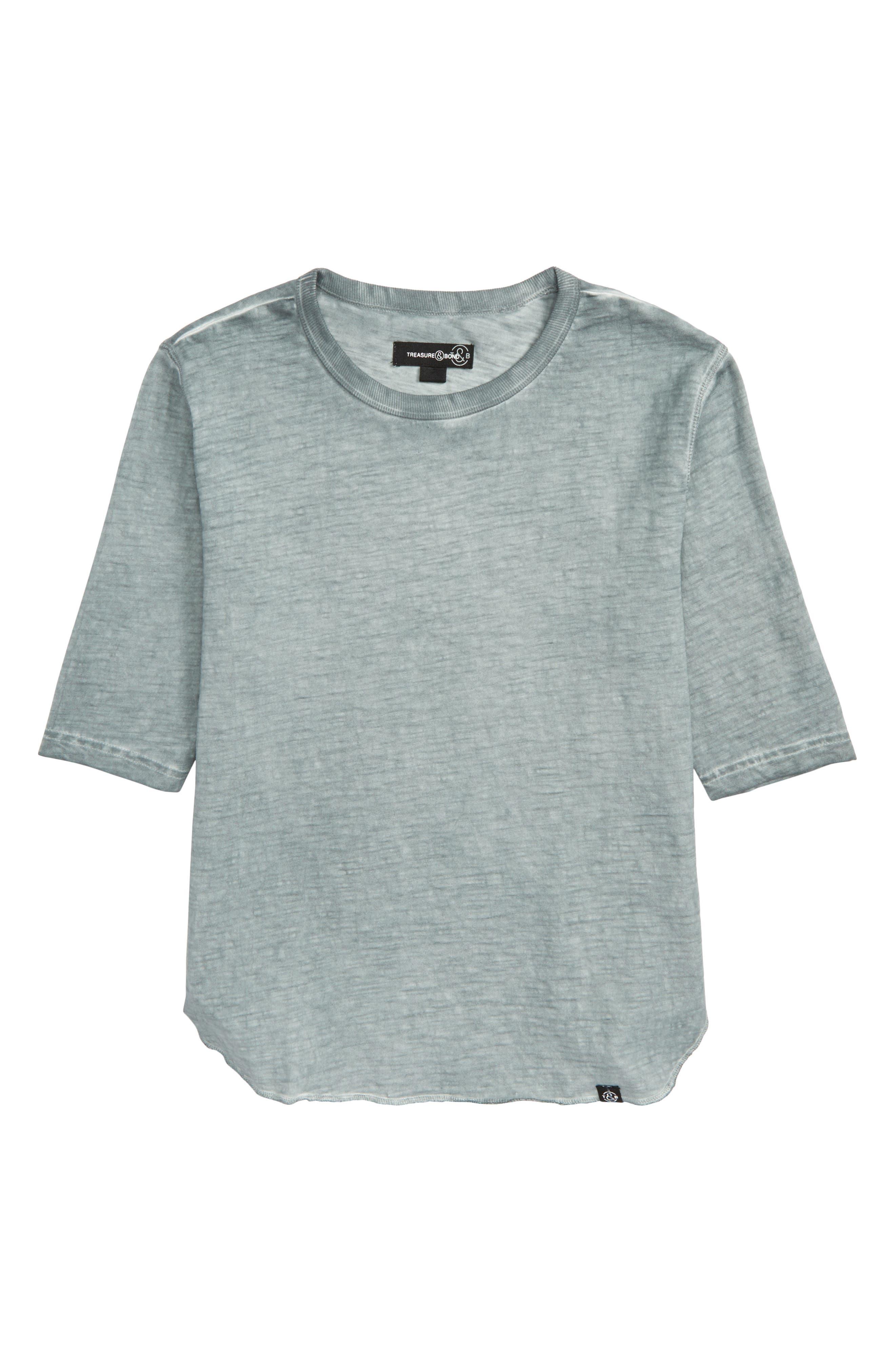 Longline T-Shirt,                             Main thumbnail 1, color,                             Teal Pond