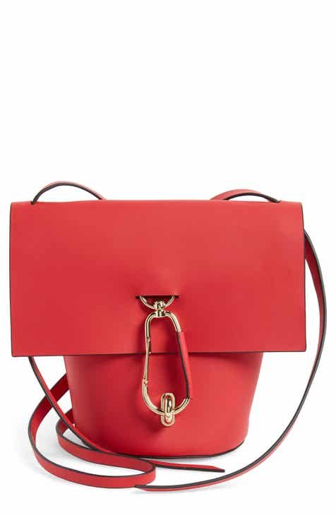 ZAC Zac Posen Belay Calfskin Leather Crossbody Bucket Bag