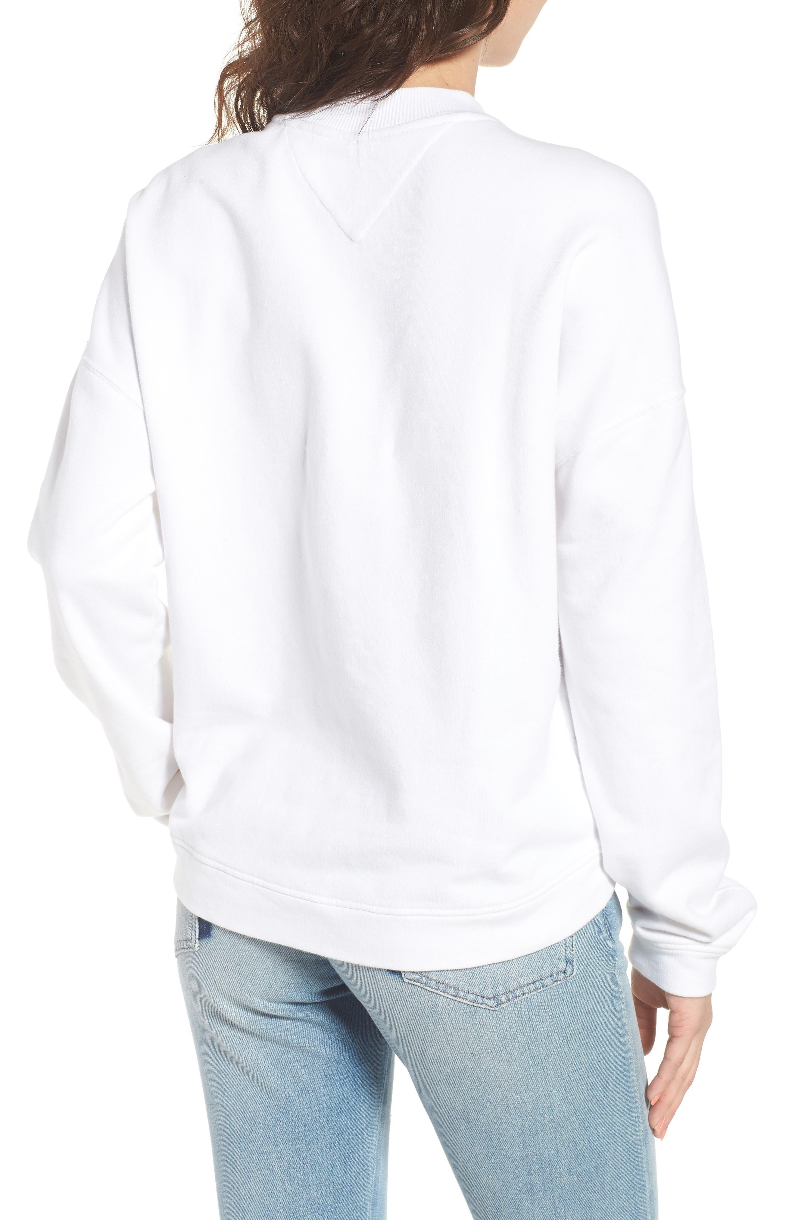 Race Uniform Badge Sweatshirt,                             Alternate thumbnail 2, color,                             Bright White