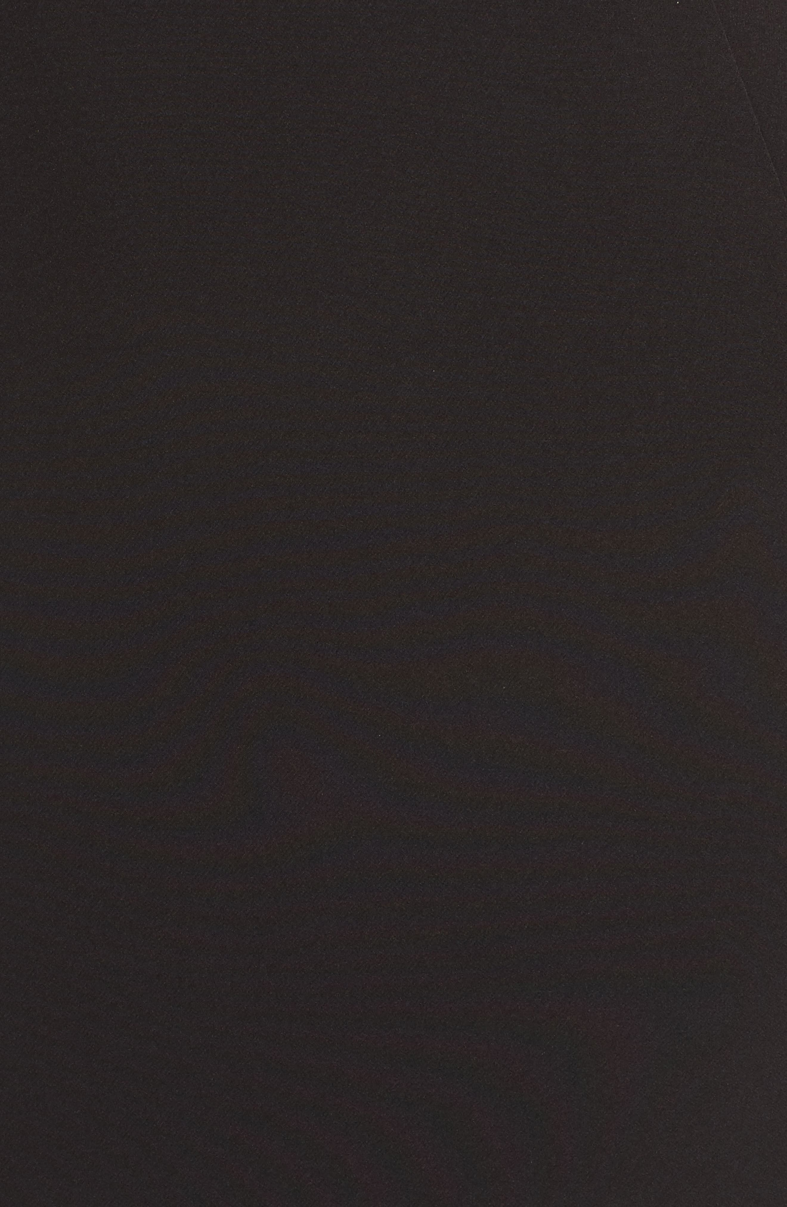 Ruffle Apron Detail Strapless Dress,                             Alternate thumbnail 6, color,                             Black