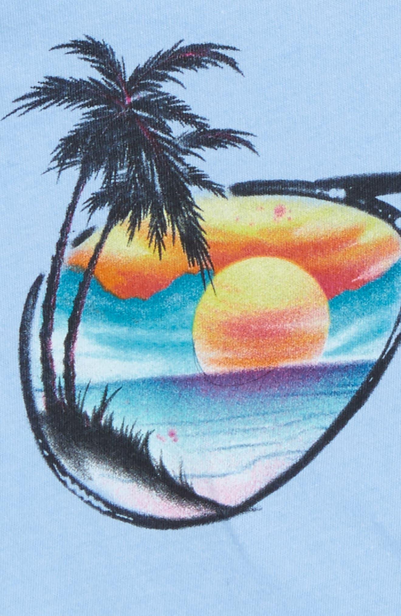 Shades Ruffle Tank,                             Alternate thumbnail 2, color,                             Bleached Denim