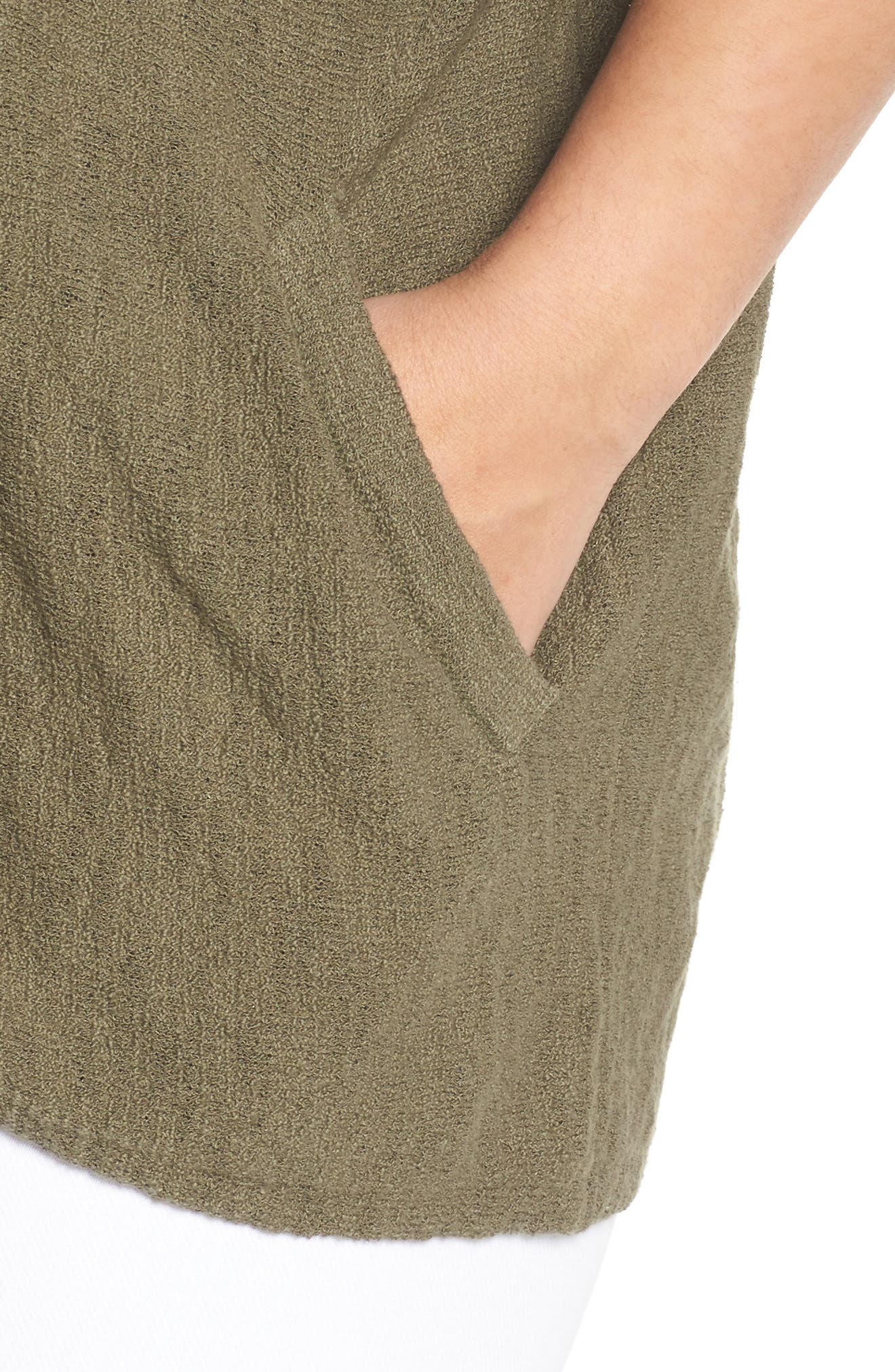 Drop Shoulder Cardigan,                             Alternate thumbnail 4, color,                             Olive Kalamata