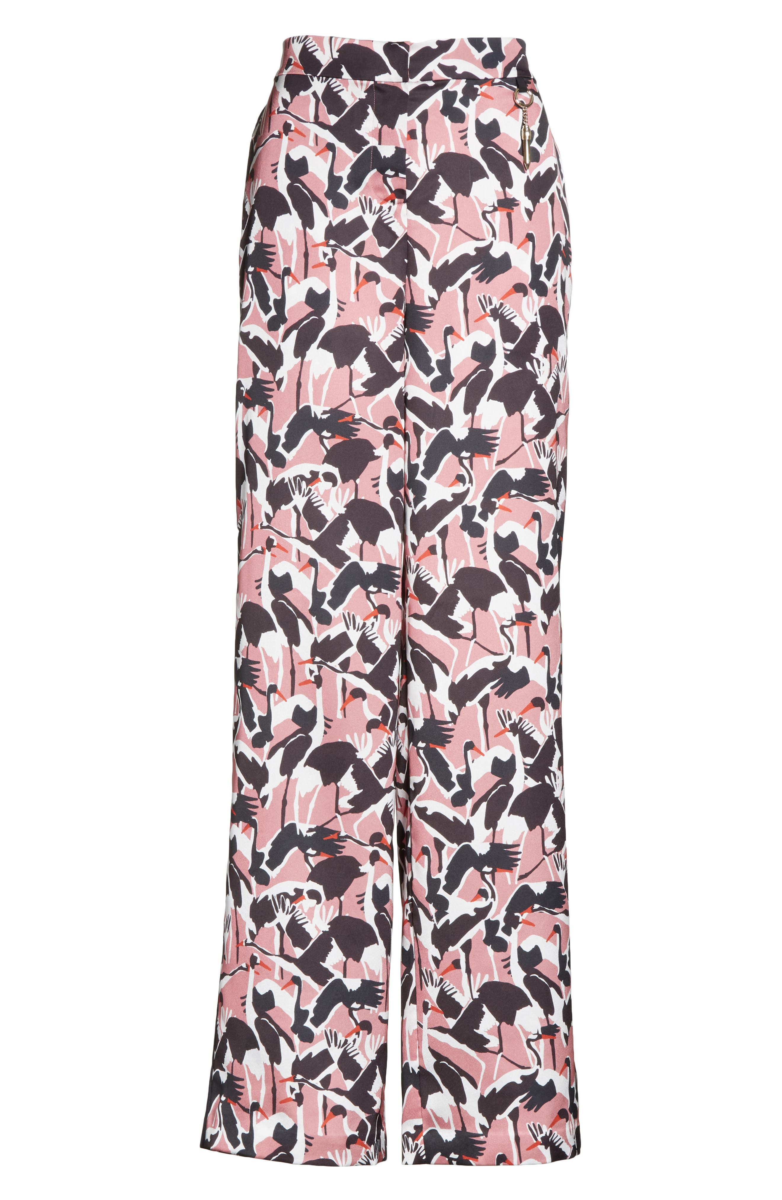 Colour by Numbers Remeel Silk Pants,                             Alternate thumbnail 6, color,                             Dusky Pink