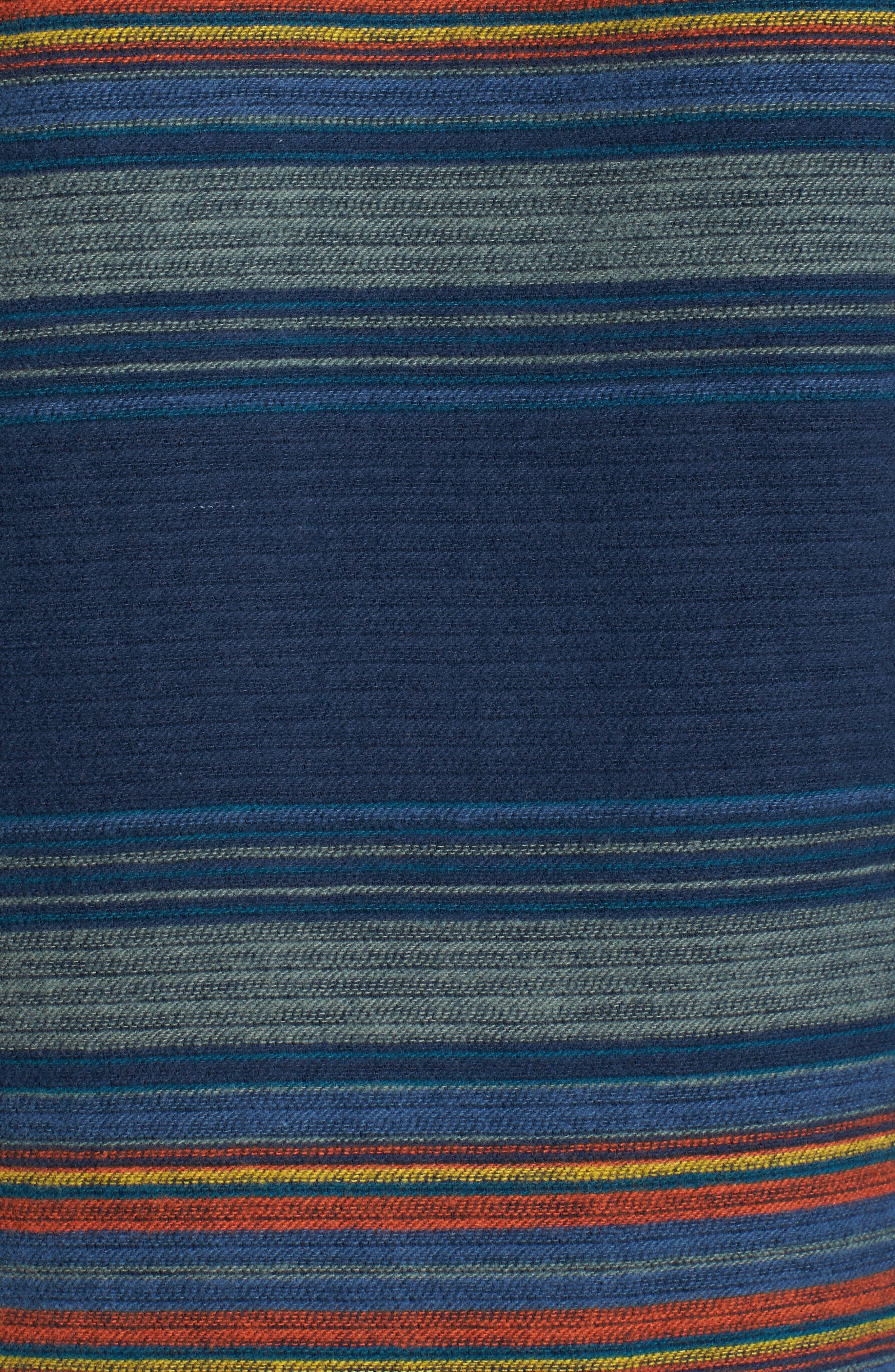 Serape Stripe Hoodie,                             Alternate thumbnail 5, color,                             Blue/ Green Stripe