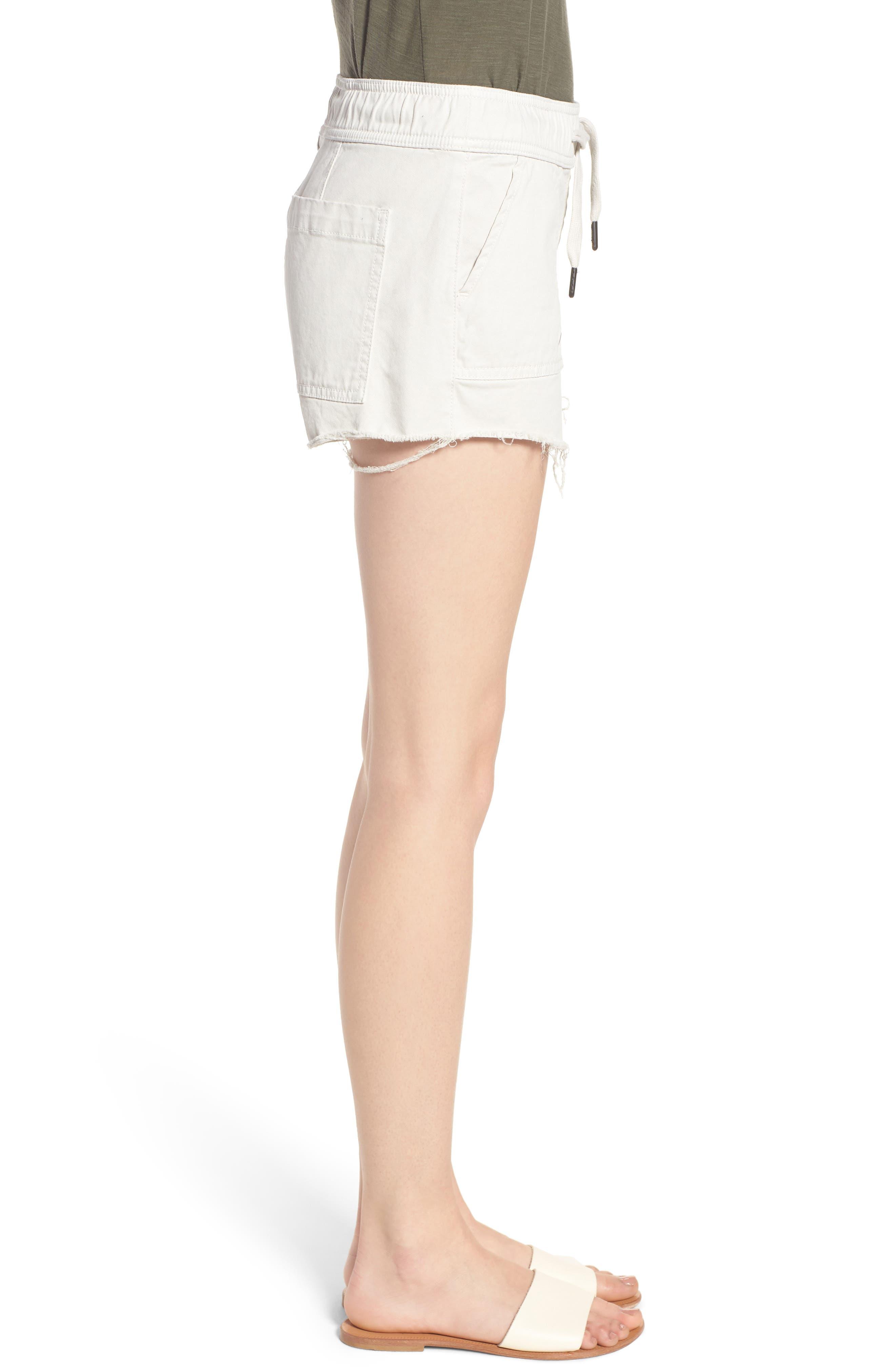 Flynn Low Rise Military Shorts,                             Alternate thumbnail 3, color,                             Bone