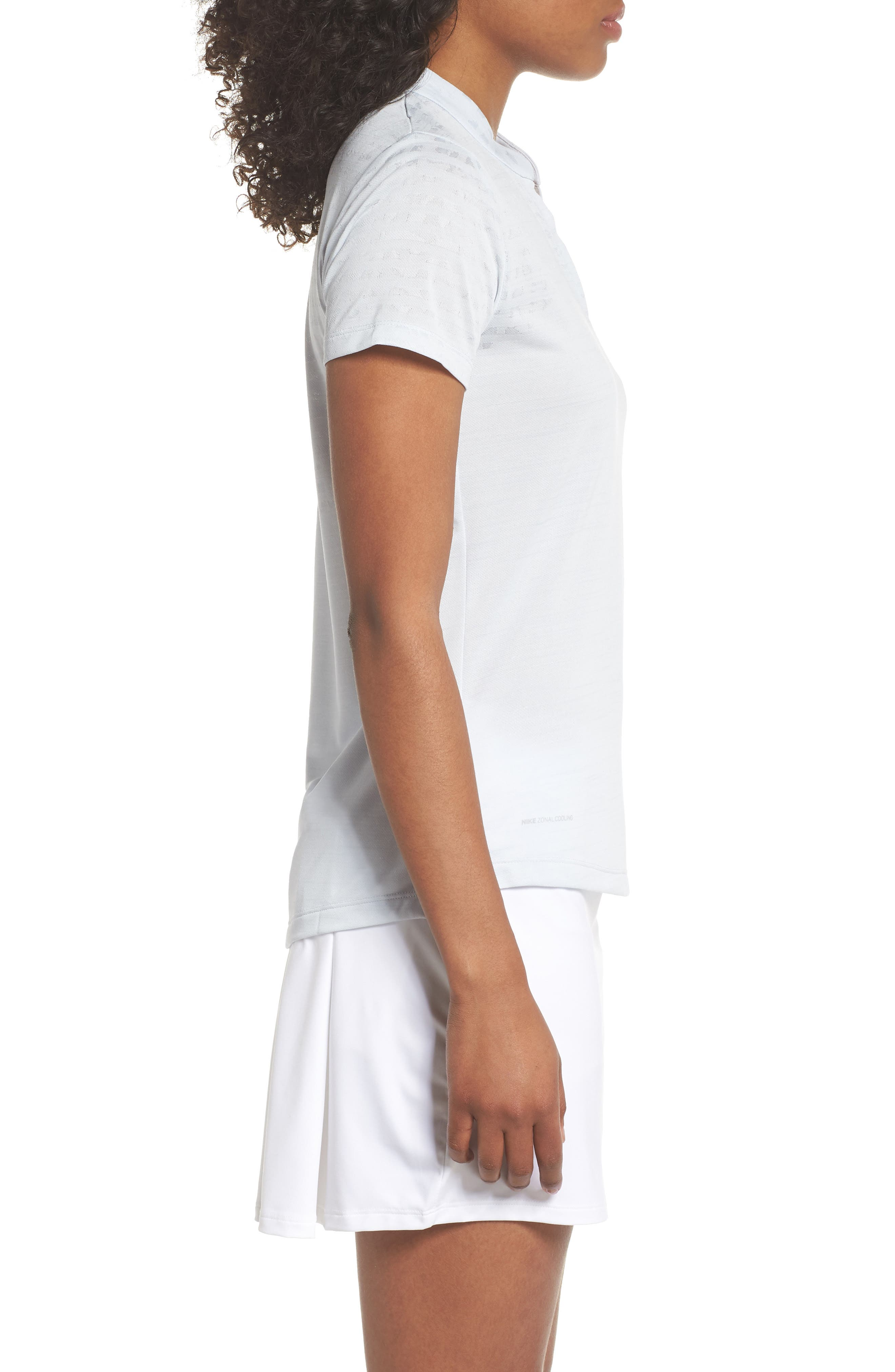 Zonal Cooling Golf Polo,                             Alternate thumbnail 3, color,                             Pure Platinum/ Silver