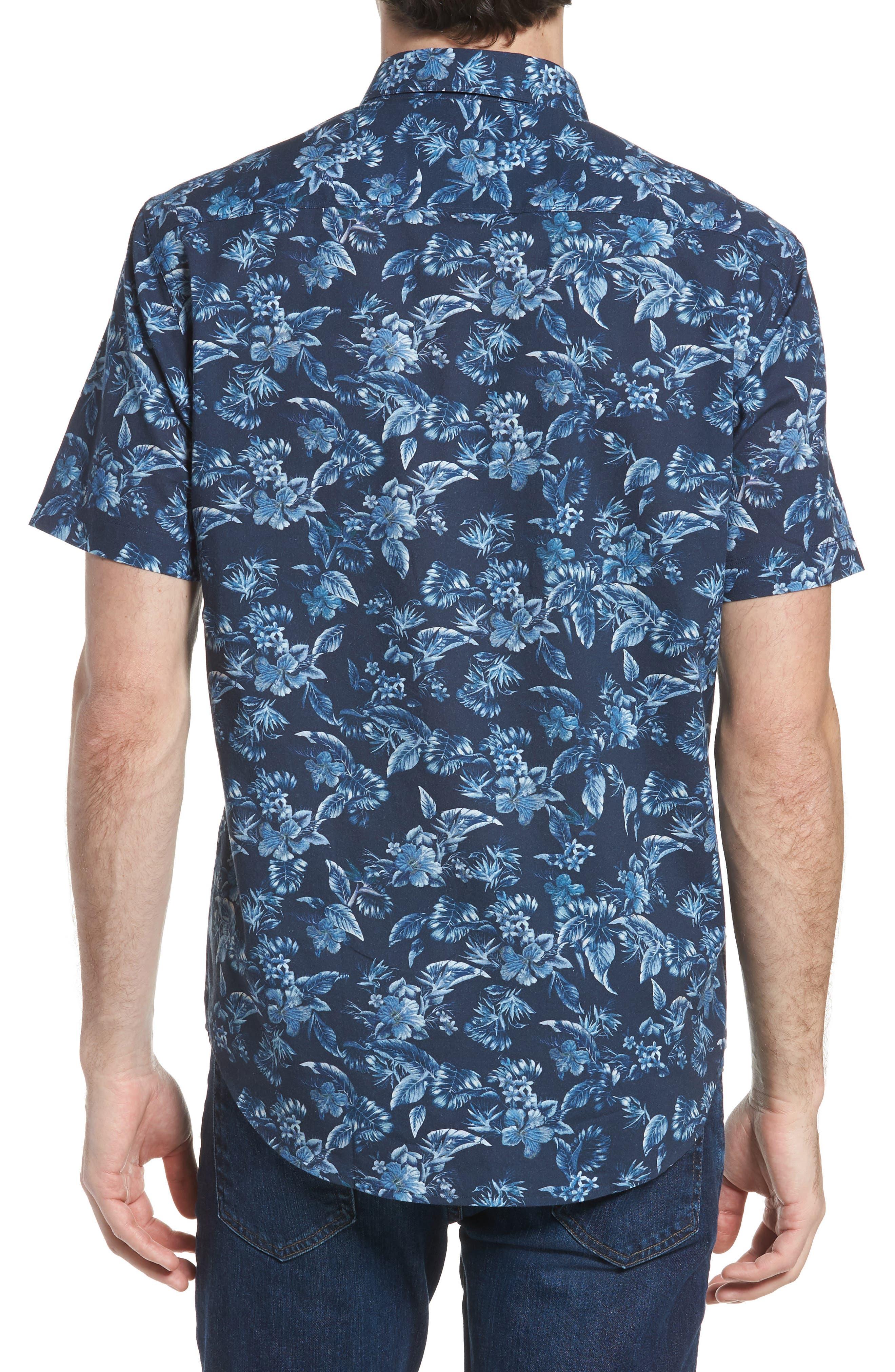 Califoras Regular Fit Print Sport Shirt,                             Alternate thumbnail 3, color,                             Navy