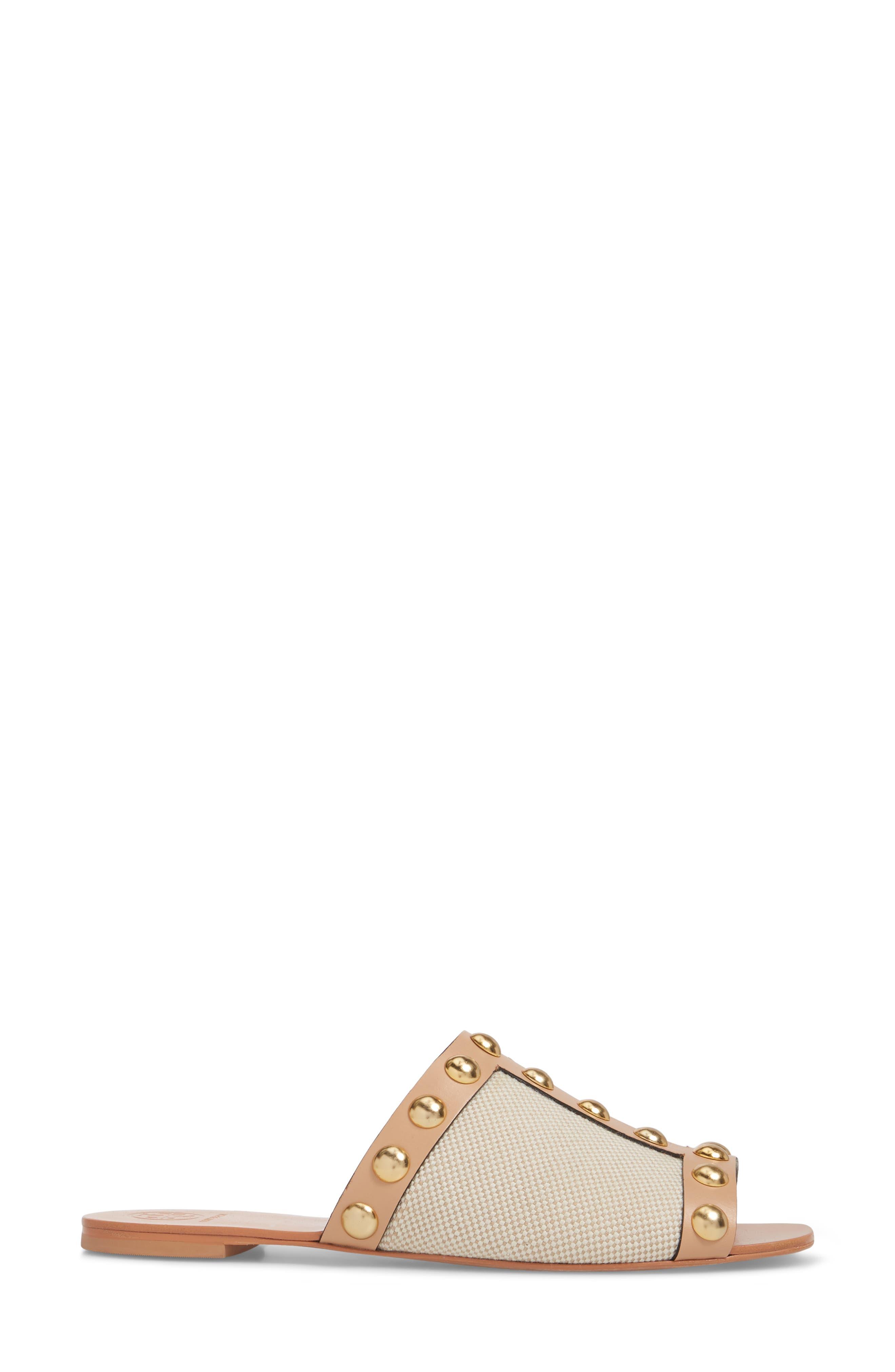 Blythe Slide Sandal,                             Alternate thumbnail 3, color,                             Sand/ Natural Vachetta