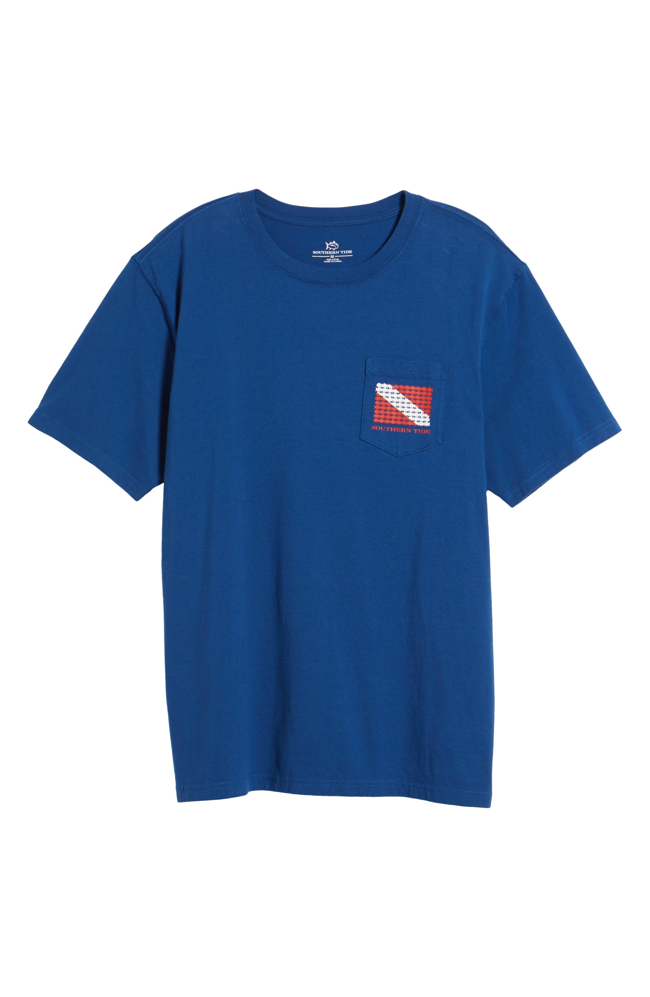Go Deep Crewneck T-Shirt,                             Alternate thumbnail 6, color,                             Blue Lake