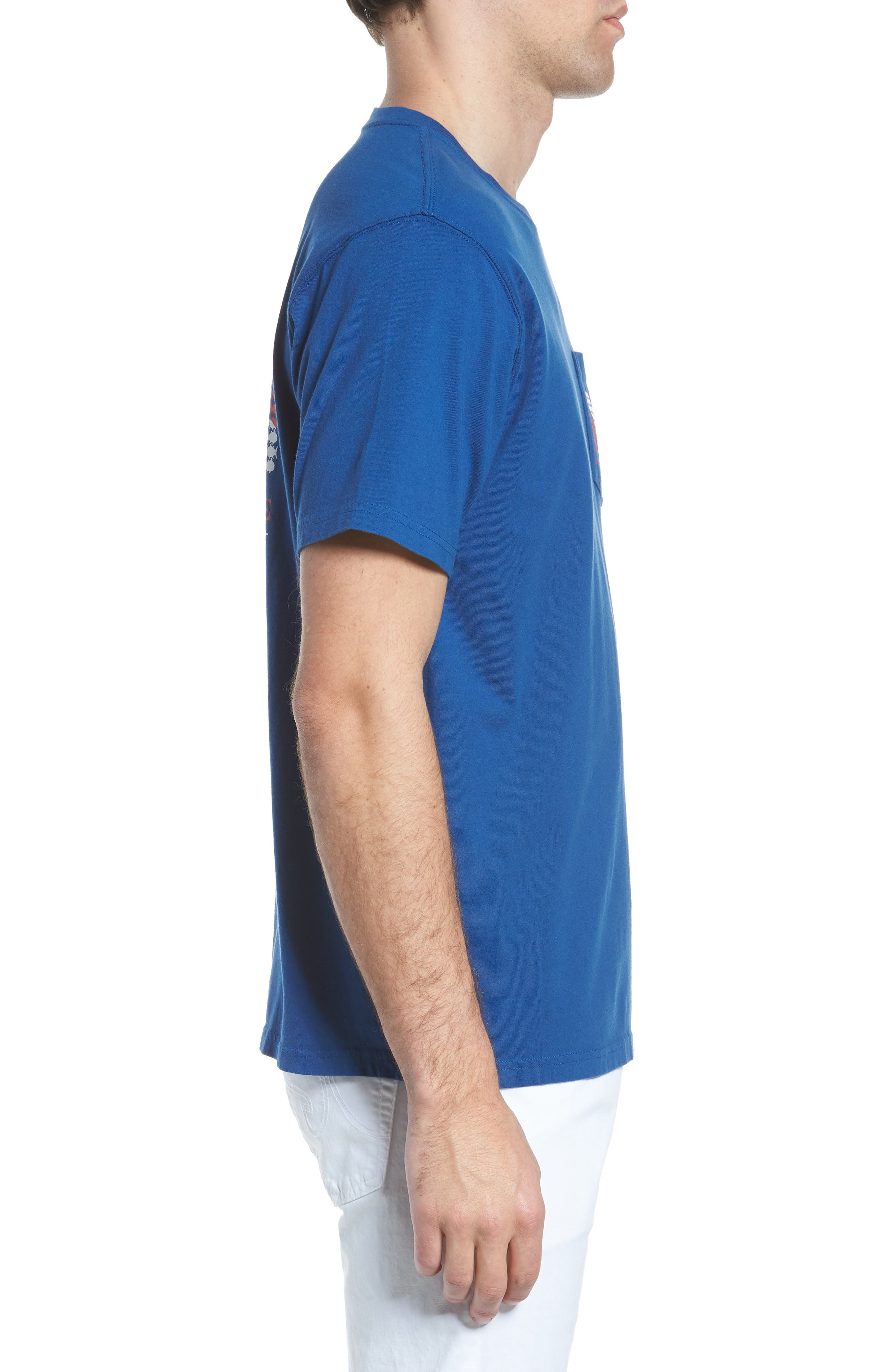Go Deep Crewneck T-Shirt,                             Alternate thumbnail 3, color,                             Blue Lake