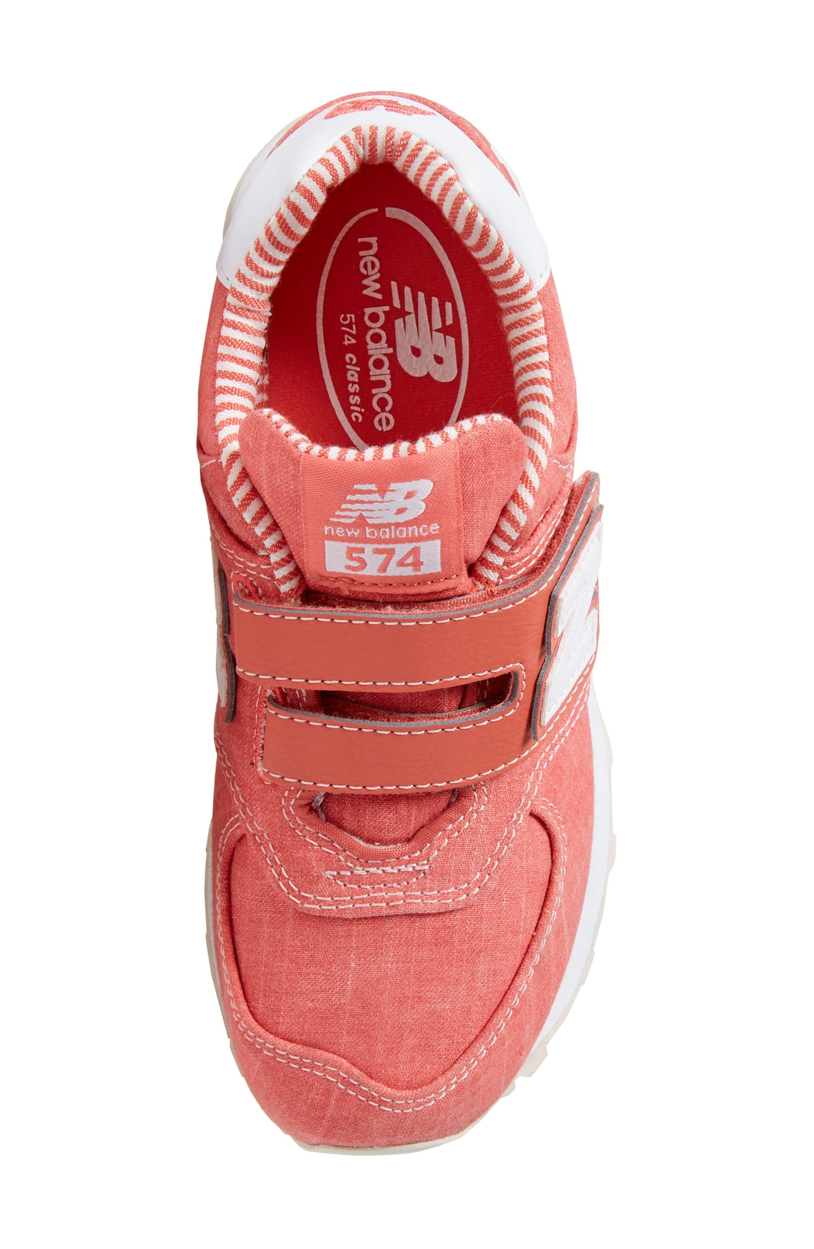 574v1 Sneaker,                             Alternate thumbnail 4, color,                             Coral