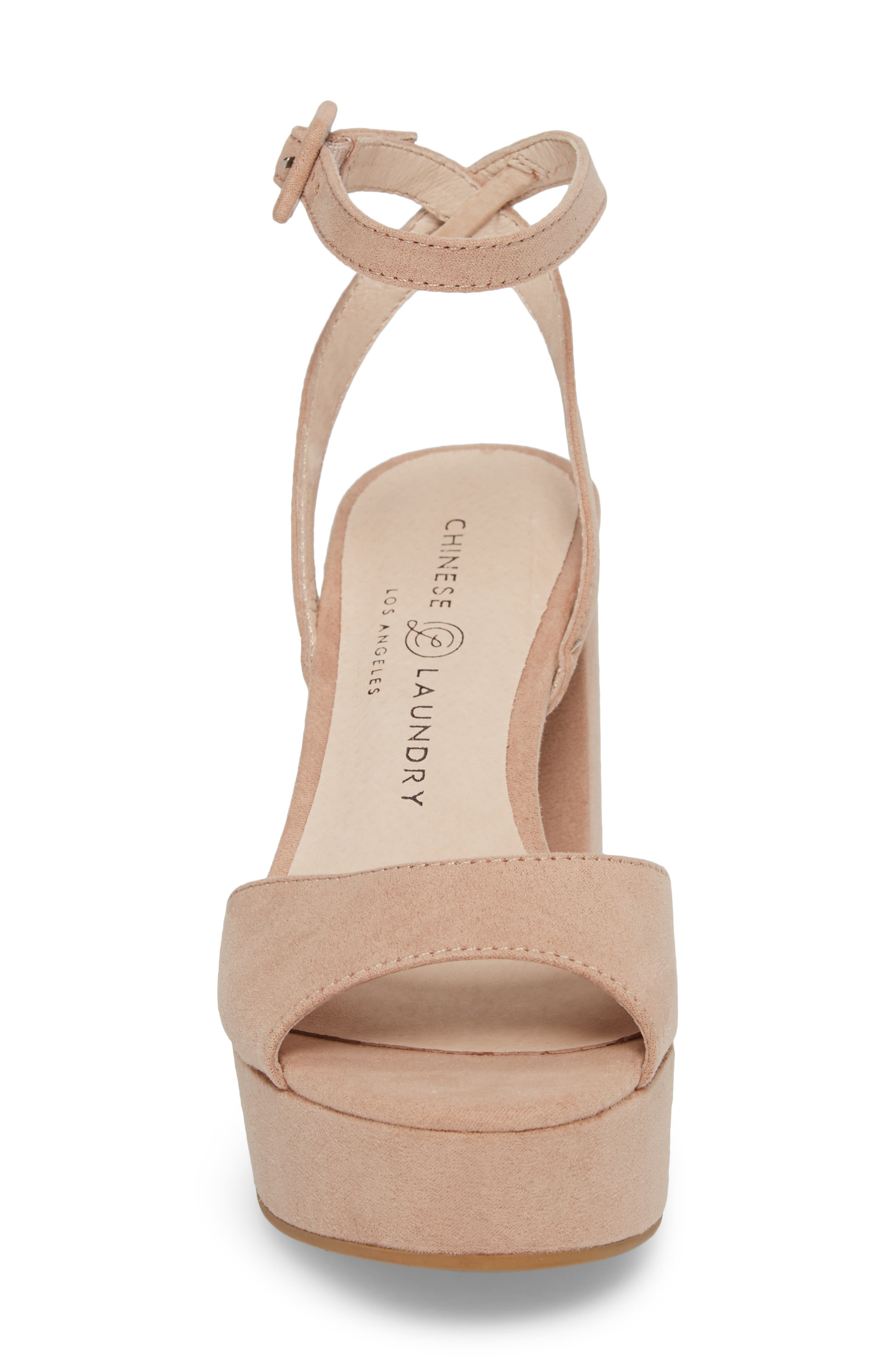 Theresa Platform Sandal,                             Alternate thumbnail 4, color,                             Dark Nude