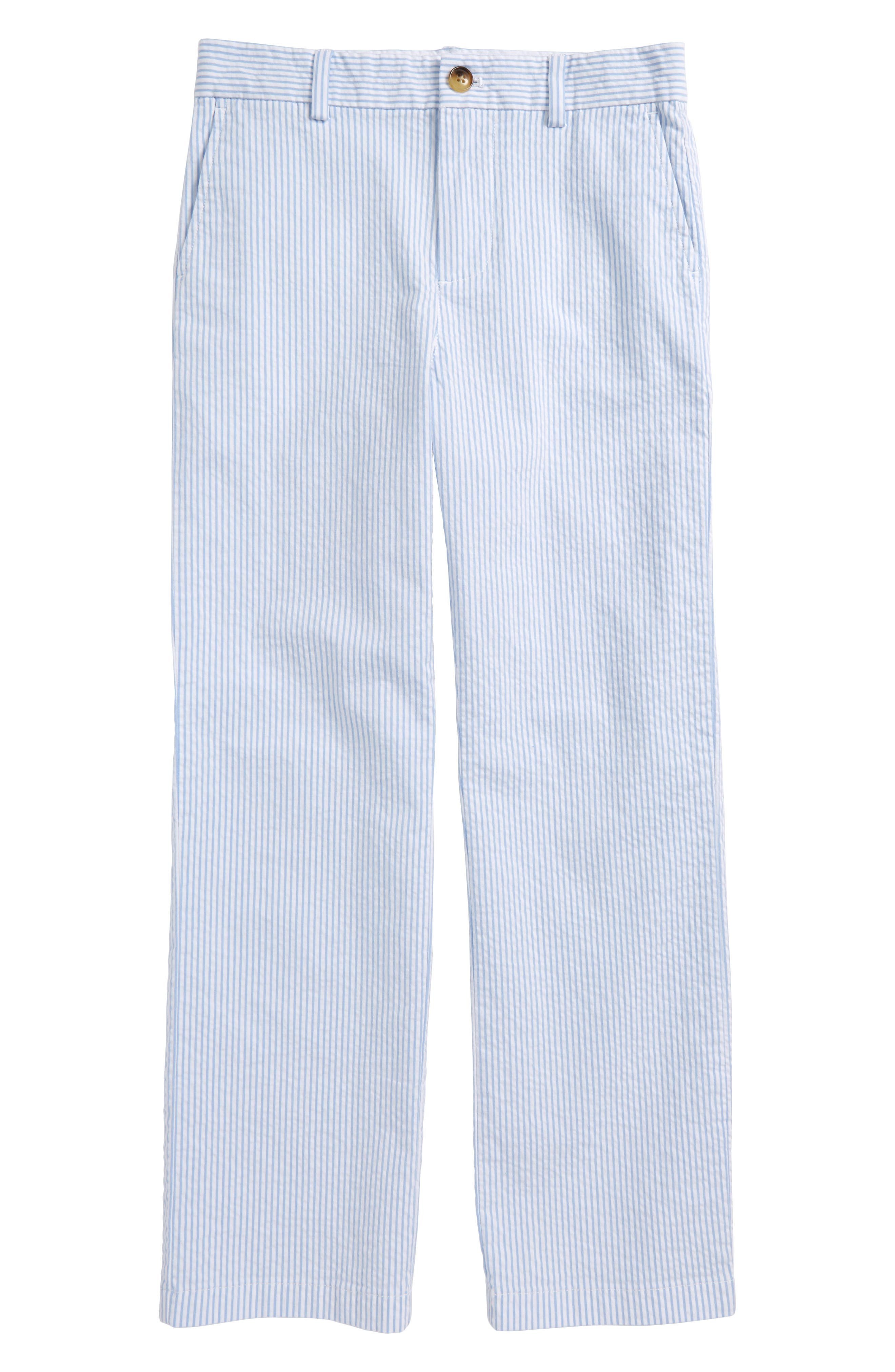 Seersucker Stripe Breaker Pants,                             Main thumbnail 1, color,                             Ocean Breeze