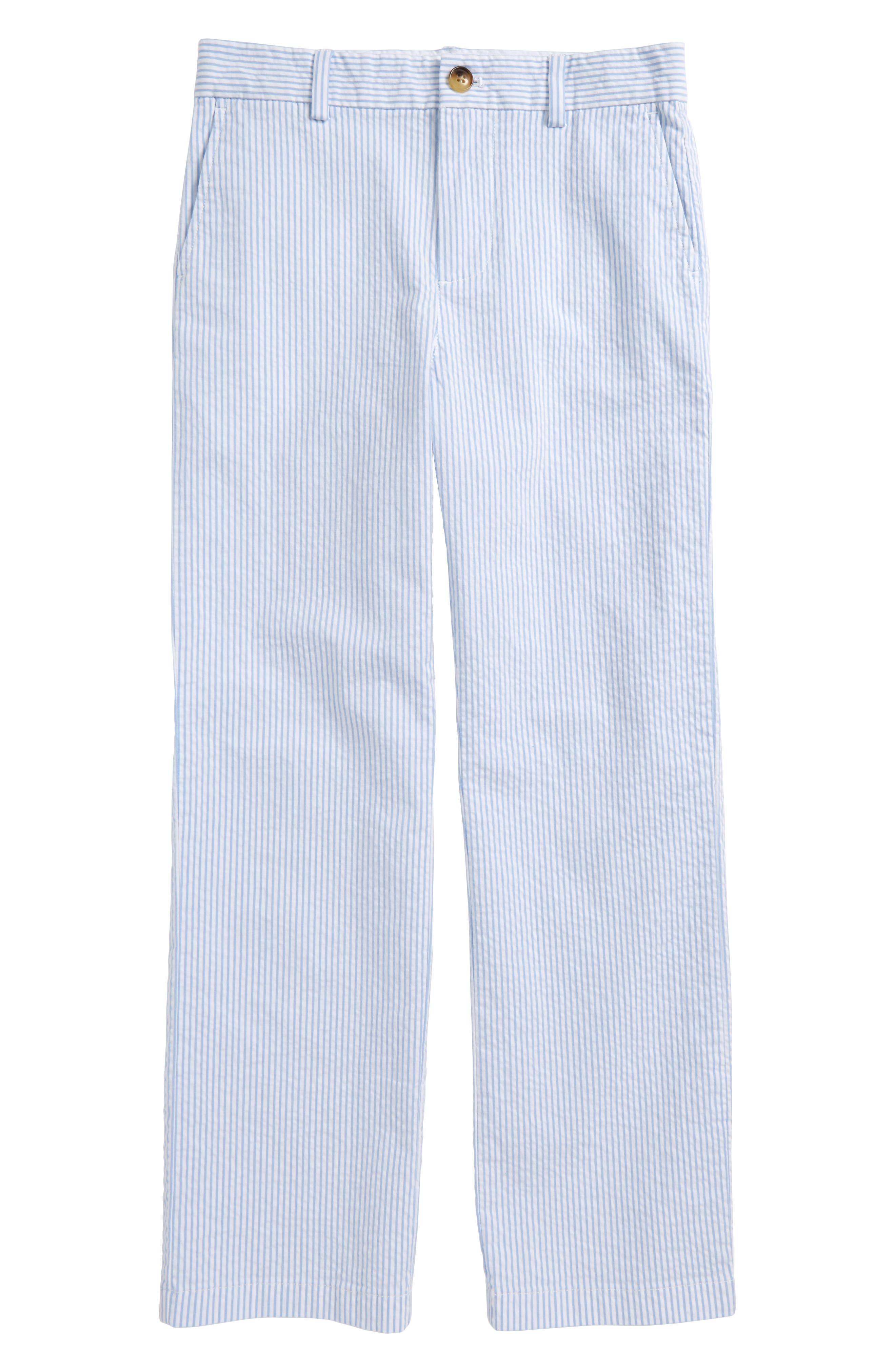 Seersucker Stripe Breaker Pants,                         Main,                         color, Ocean Breeze