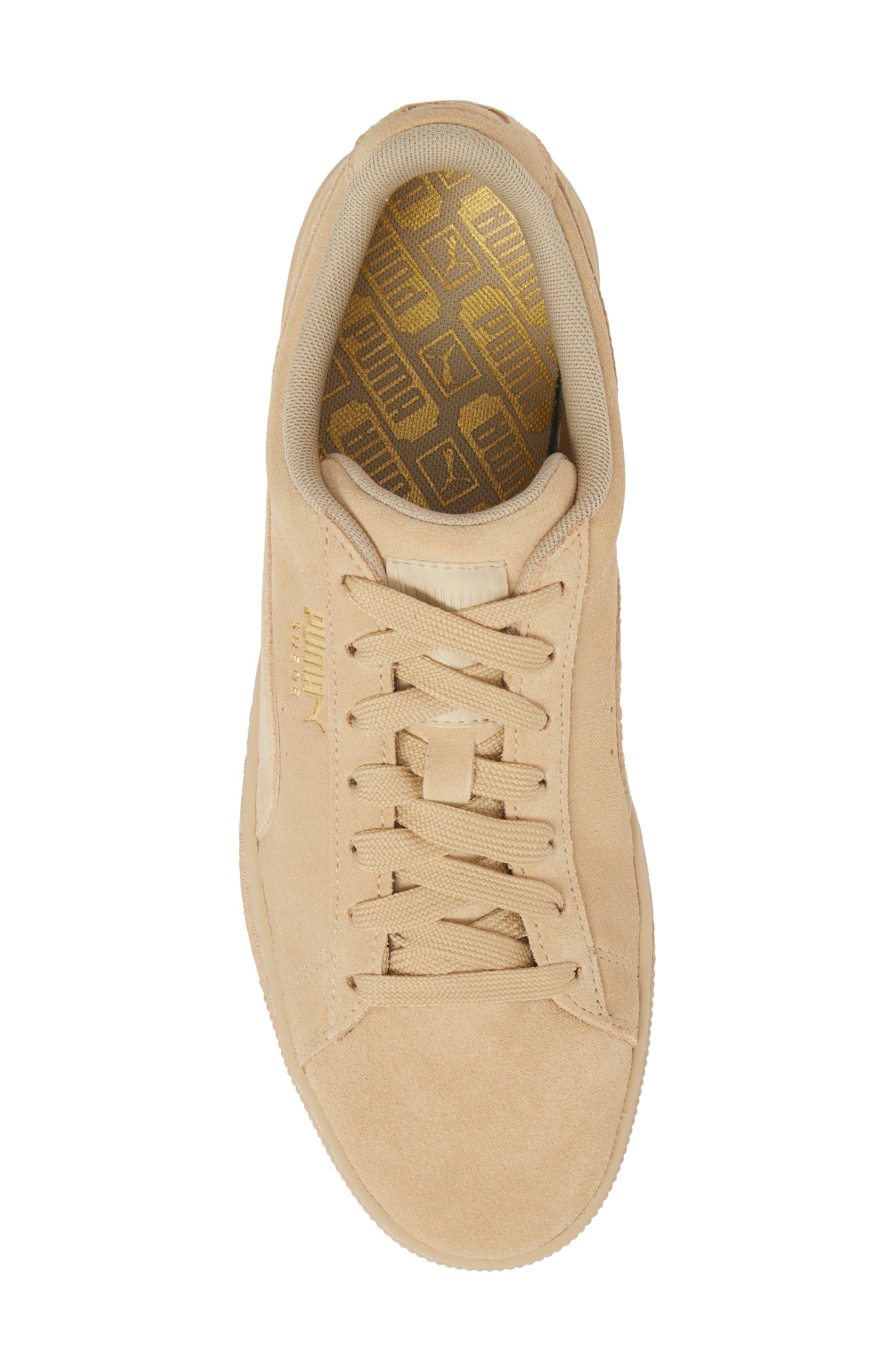 Suede Classic Tonal Sneaker,                             Alternate thumbnail 5, color,                             Pebble Suede