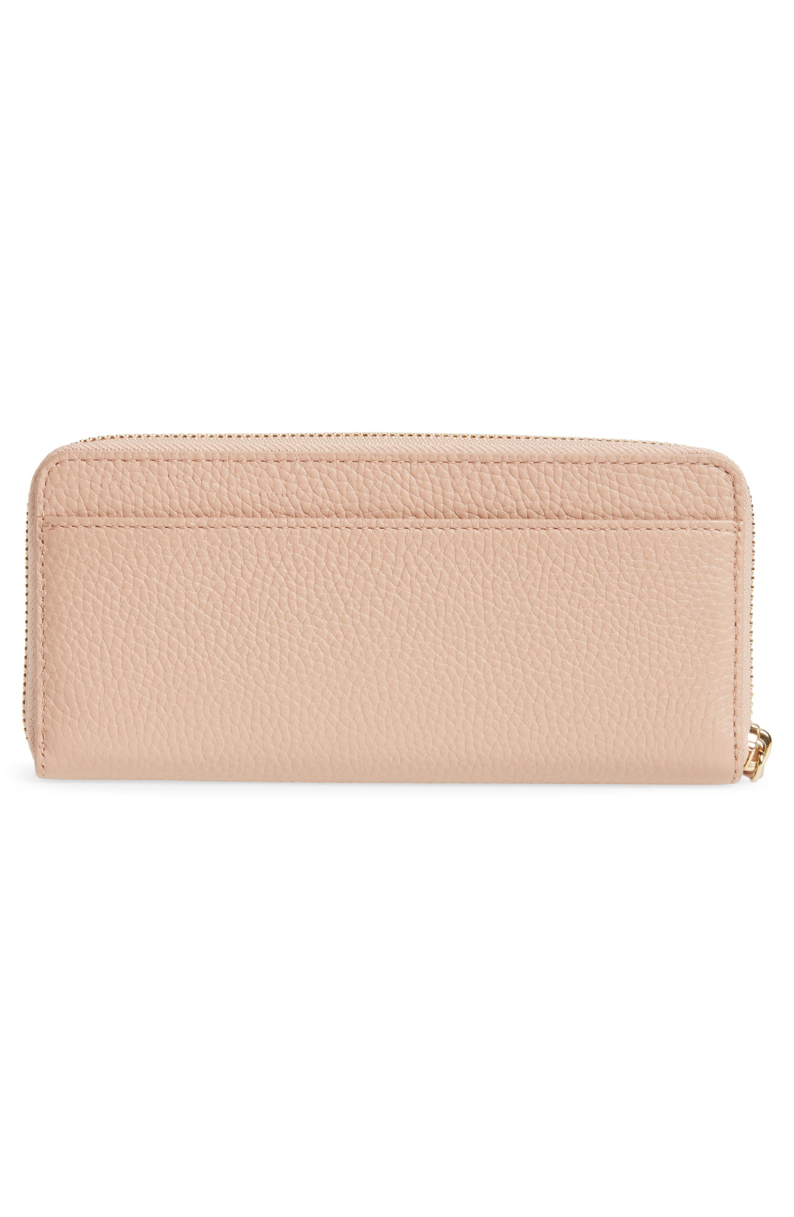 trent hill lindsey leather wallet,                             Alternate thumbnail 3, color,                             Ginger Tea