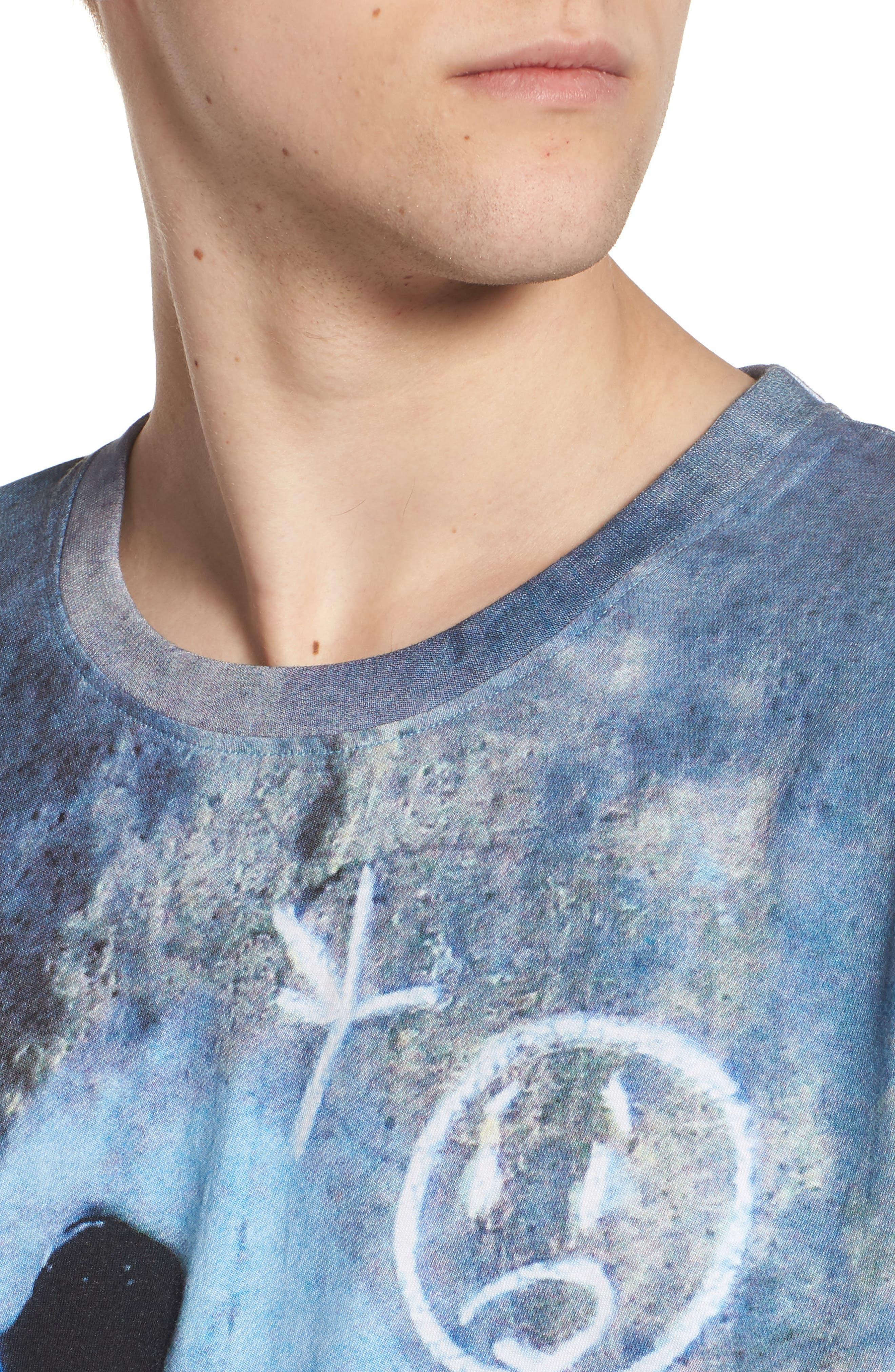 Grey Ghost T-Shirt,                             Alternate thumbnail 4, color,                             Blue/White