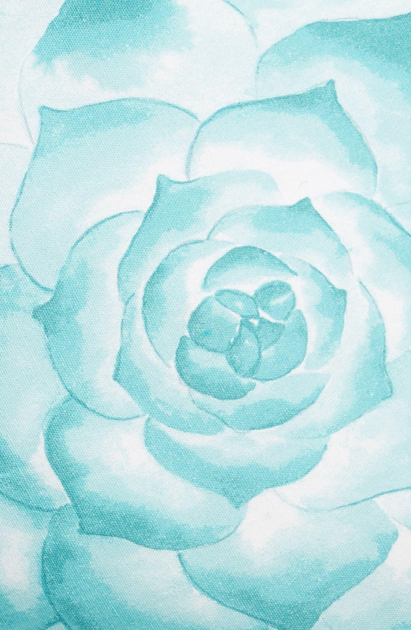 Eva Accent Pillow,                             Alternate thumbnail 3, color,                             Teal Aquifer