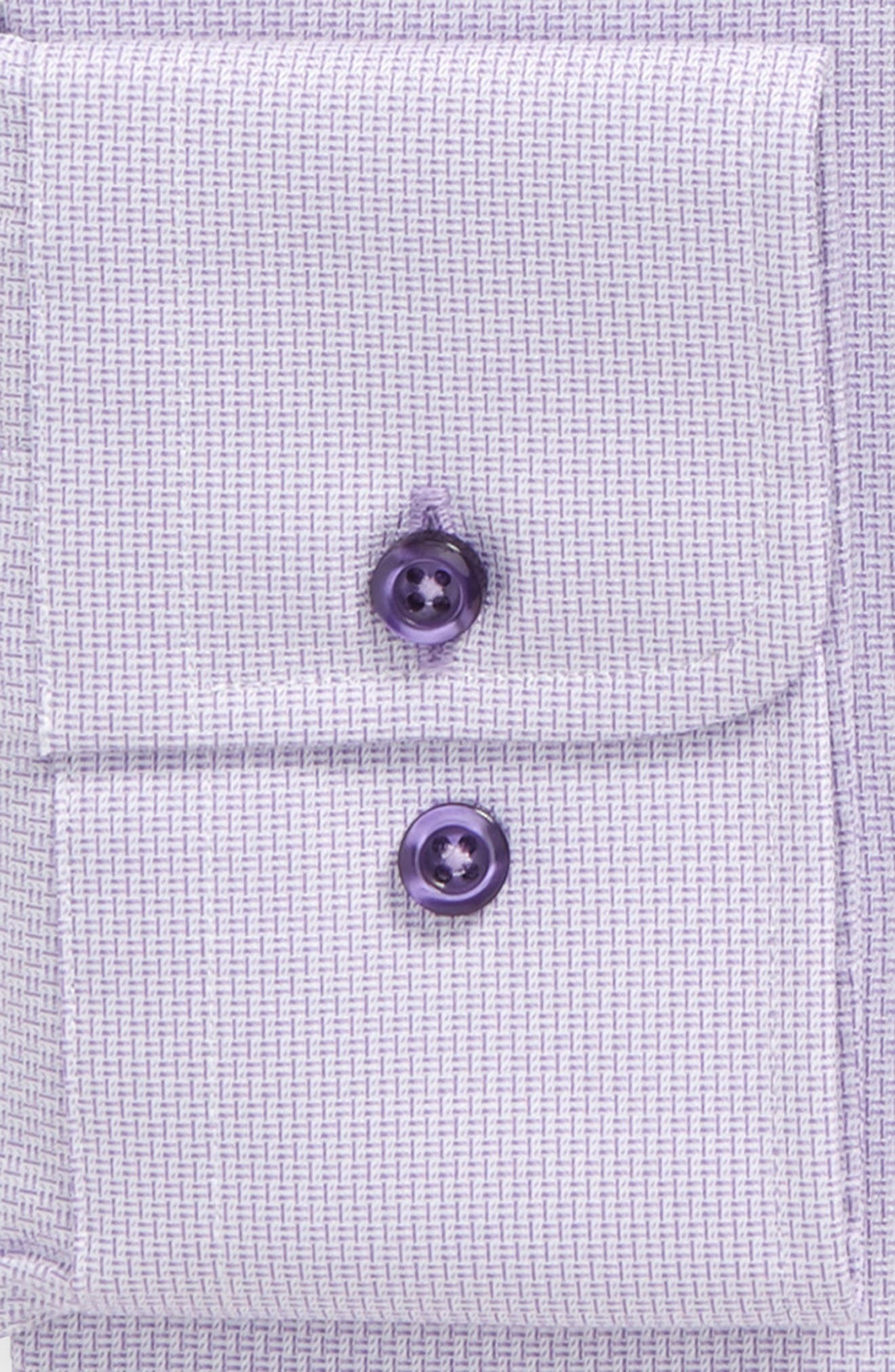 Slim Fit Solid Dress Shirt,                             Alternate thumbnail 2, color,                             Lilac