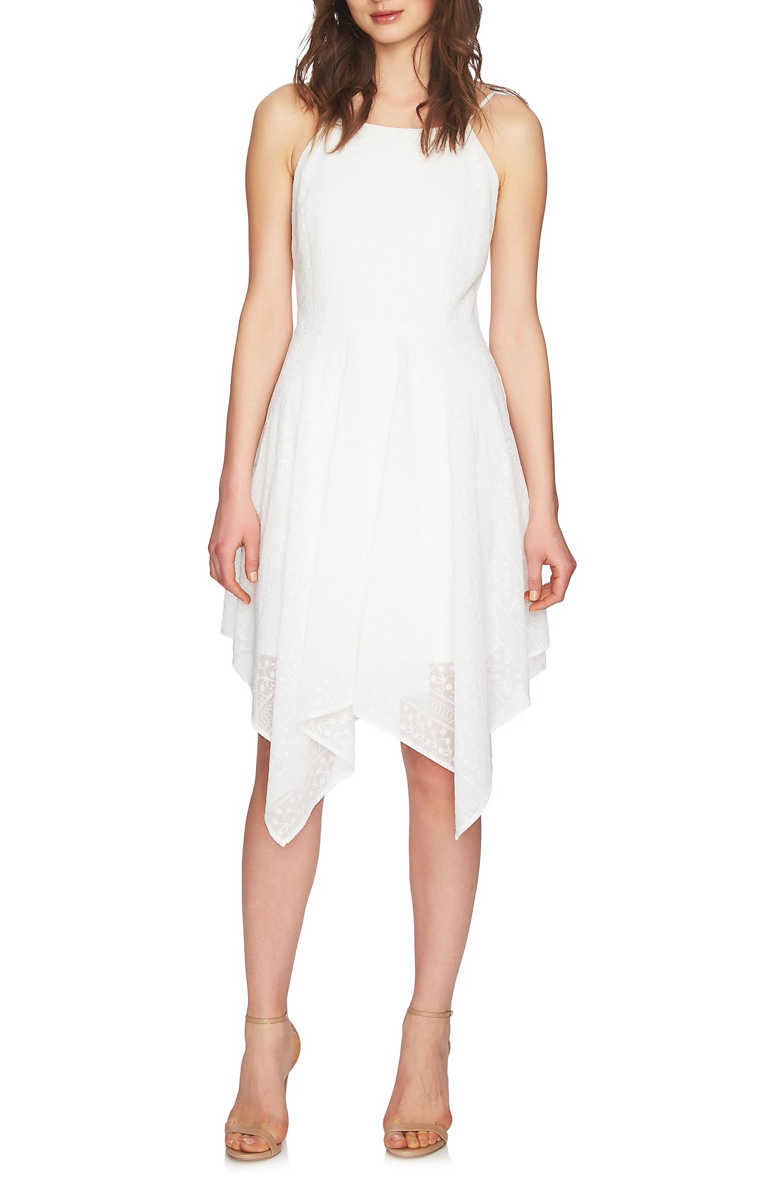 Reese Handkerchief Hem Dress,                         Main,                         color, New Ivory