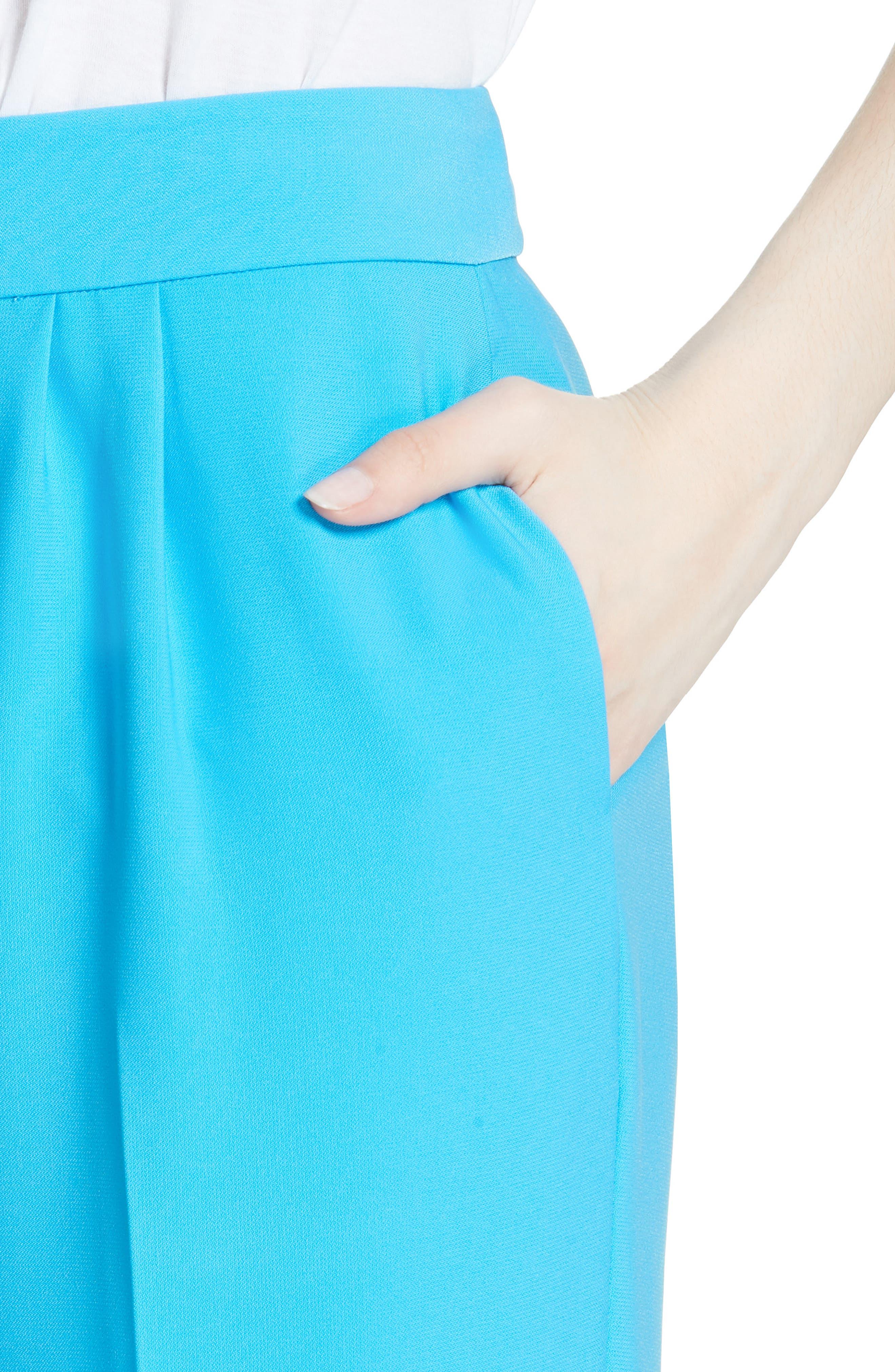 Soft Pleated Trousers,                             Alternate thumbnail 4, color,                             Malibu