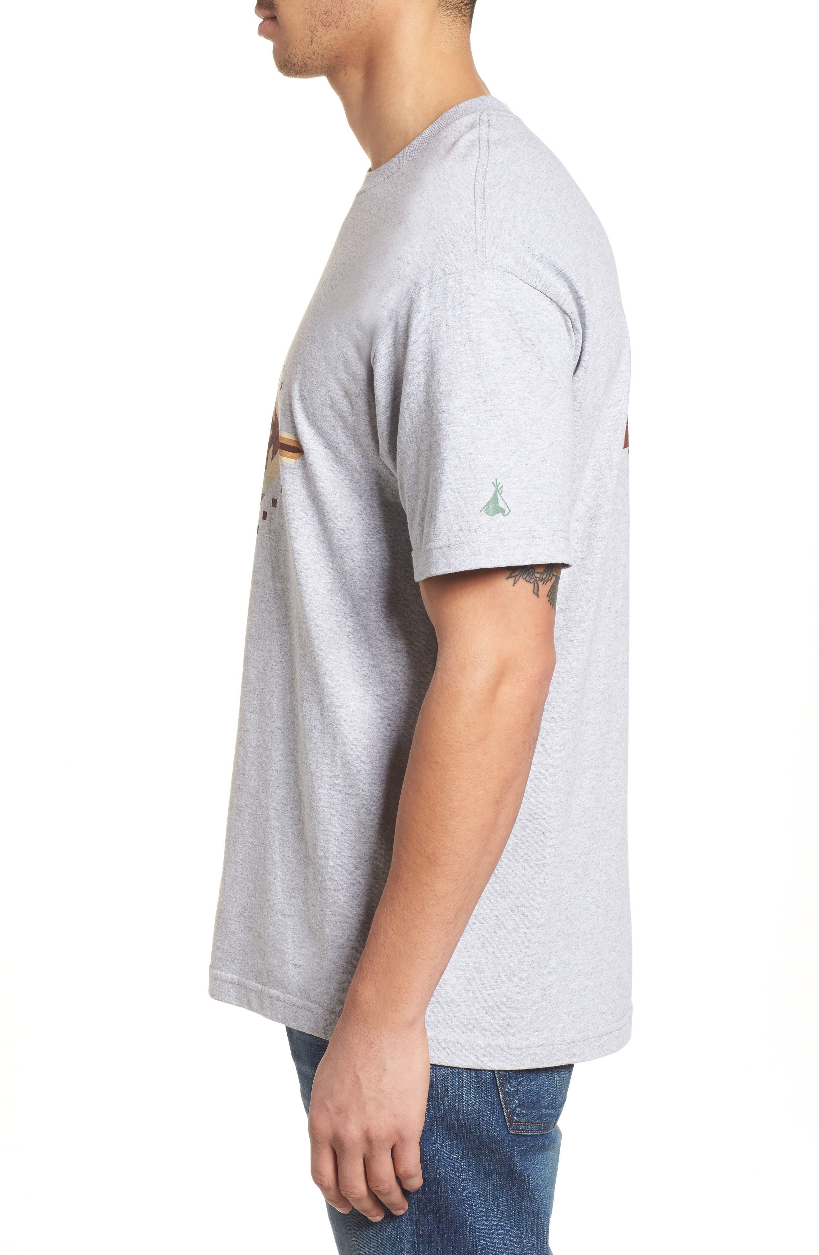 Crewneck T-Shirt,                             Alternate thumbnail 3, color,                             Gray Mesquite Canyon