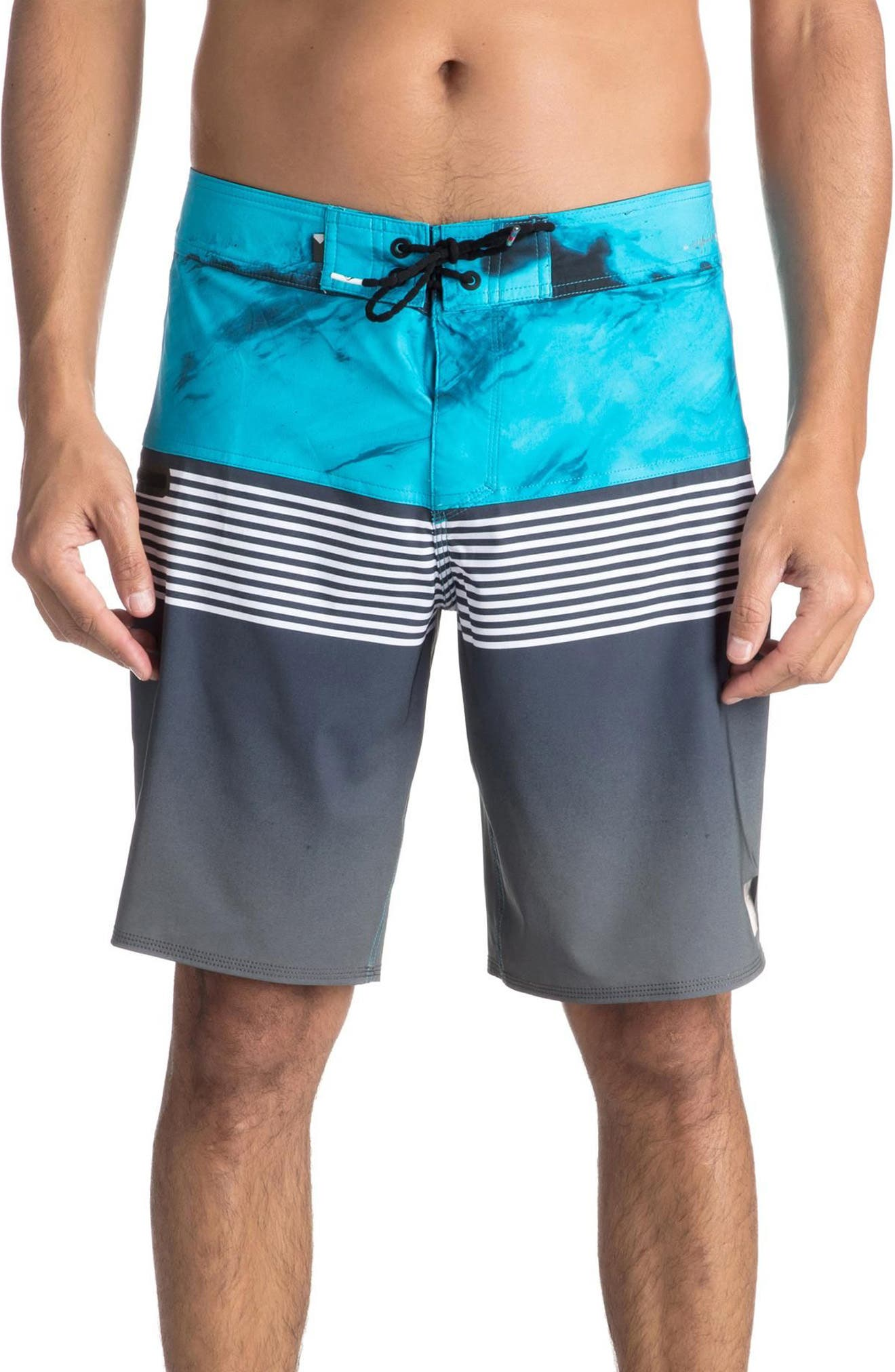 Highline Lava Division Board Shorts,                             Main thumbnail 1, color,                             Black