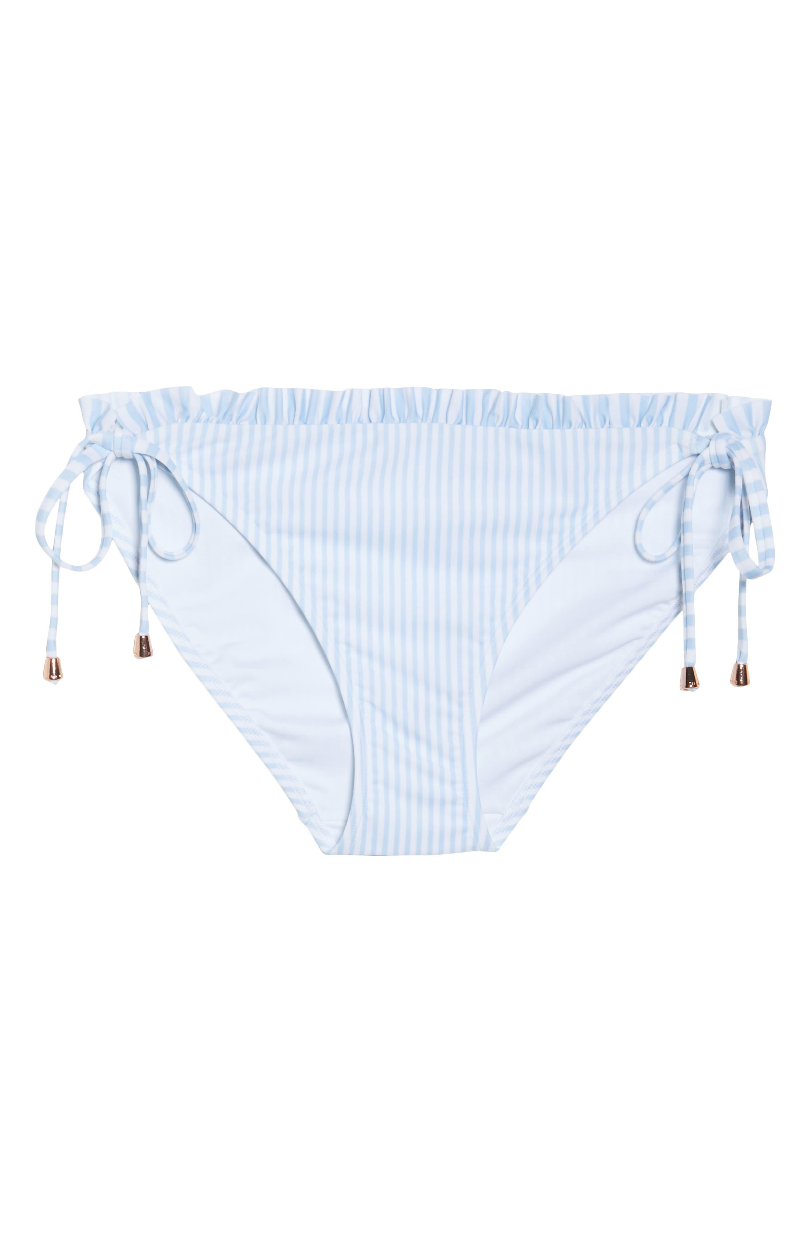 Side Tie Bikini Bottoms,                             Alternate thumbnail 9, color,                             Pale Blue