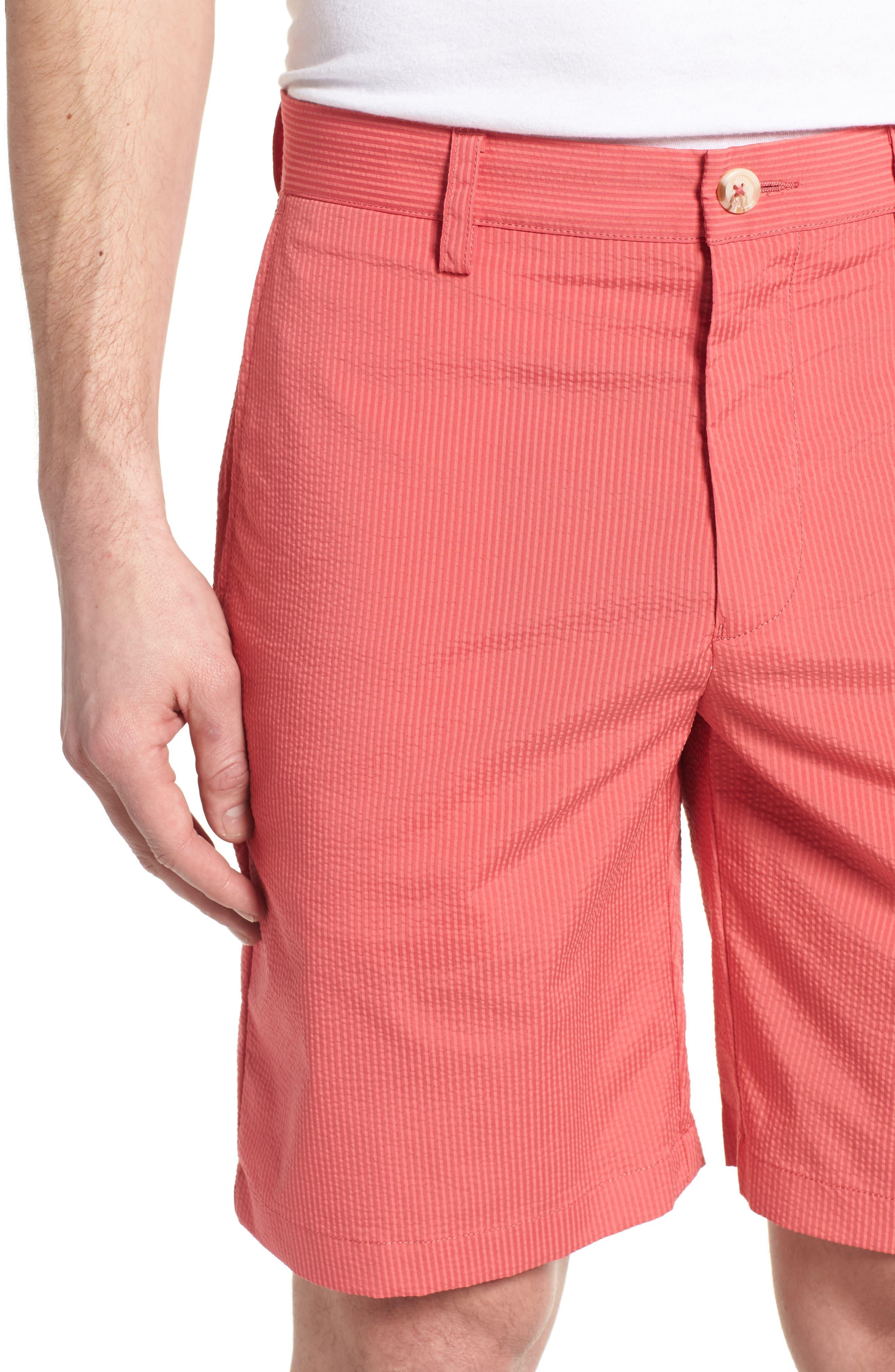 Seersucker Shorts,                             Alternate thumbnail 4, color,                             Charleston Red