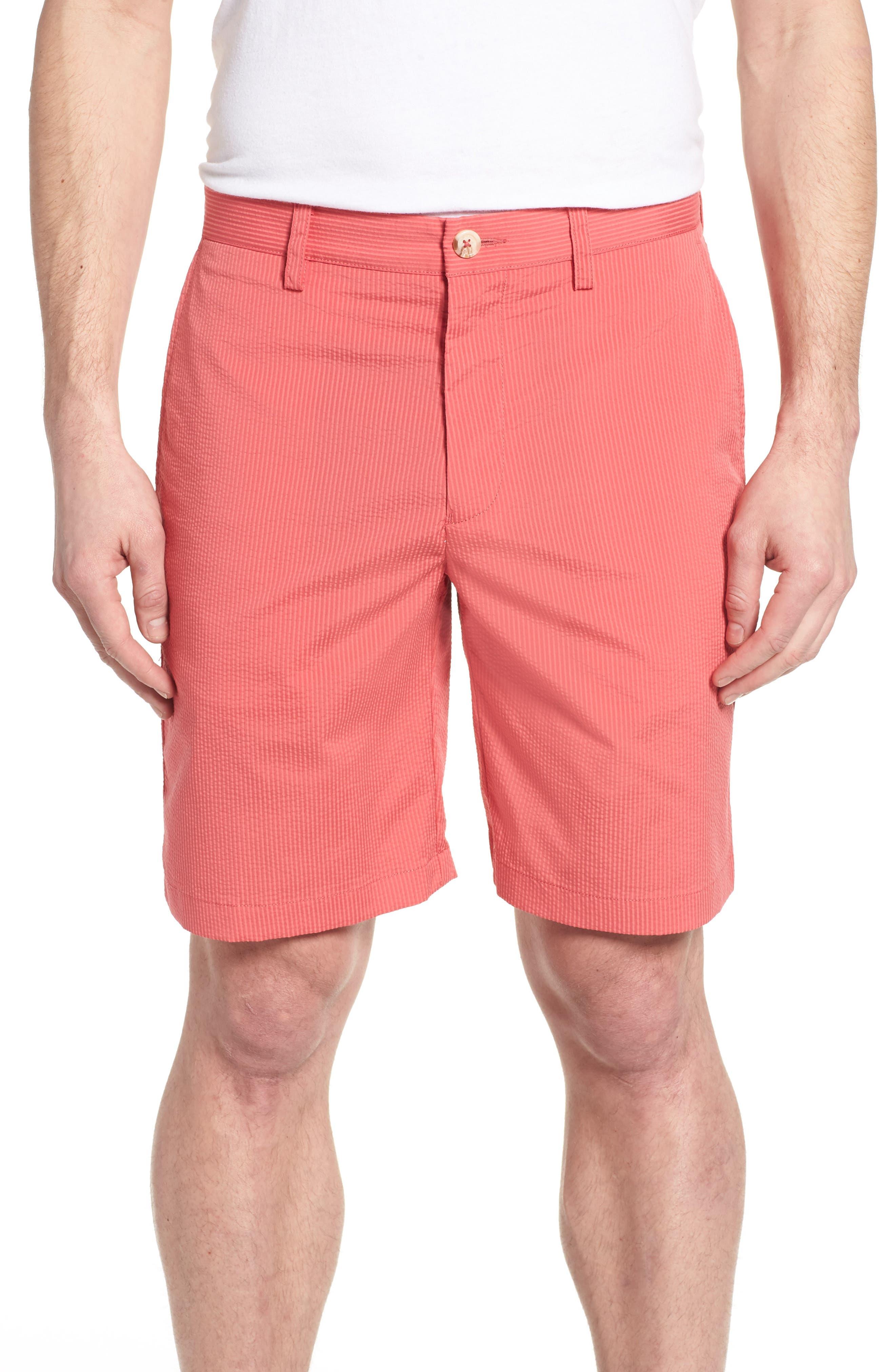 Seersucker Shorts,                         Main,                         color, Charleston Red