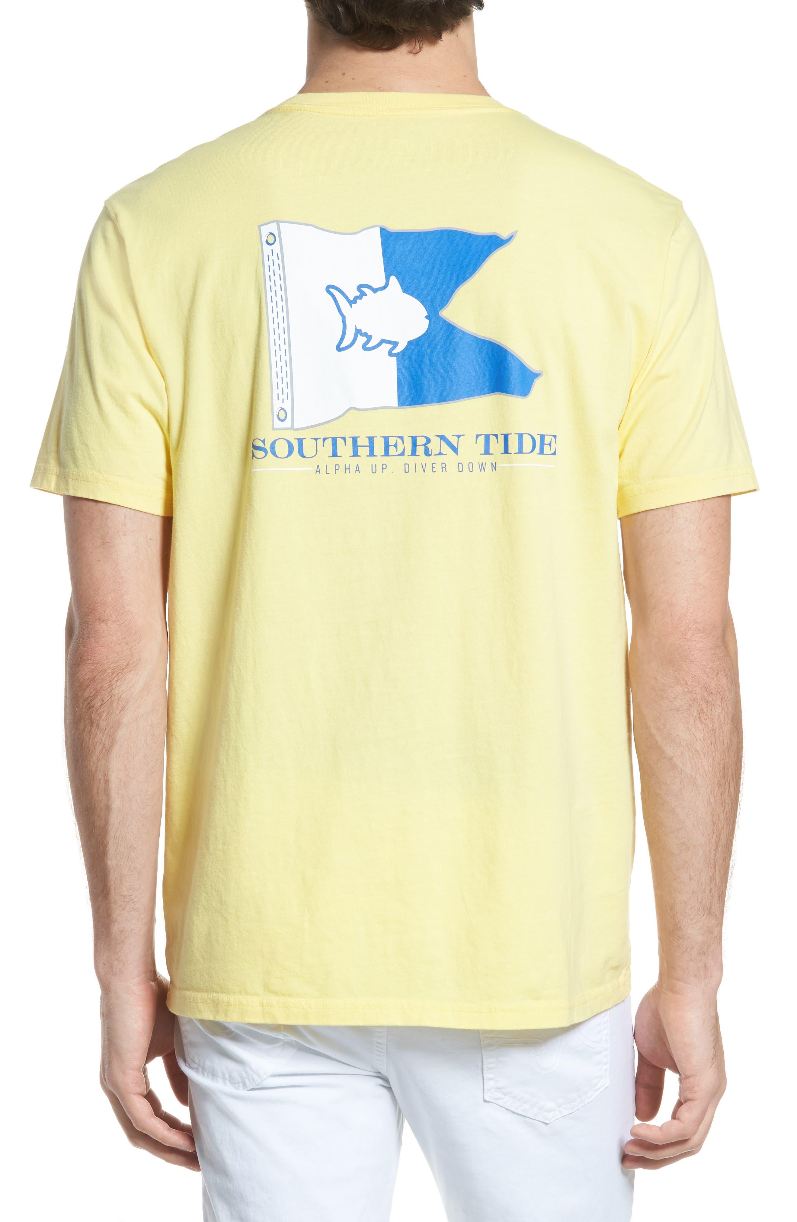 Alpha Up Crewneck T-Shirt,                             Alternate thumbnail 2, color,                             Sunshine