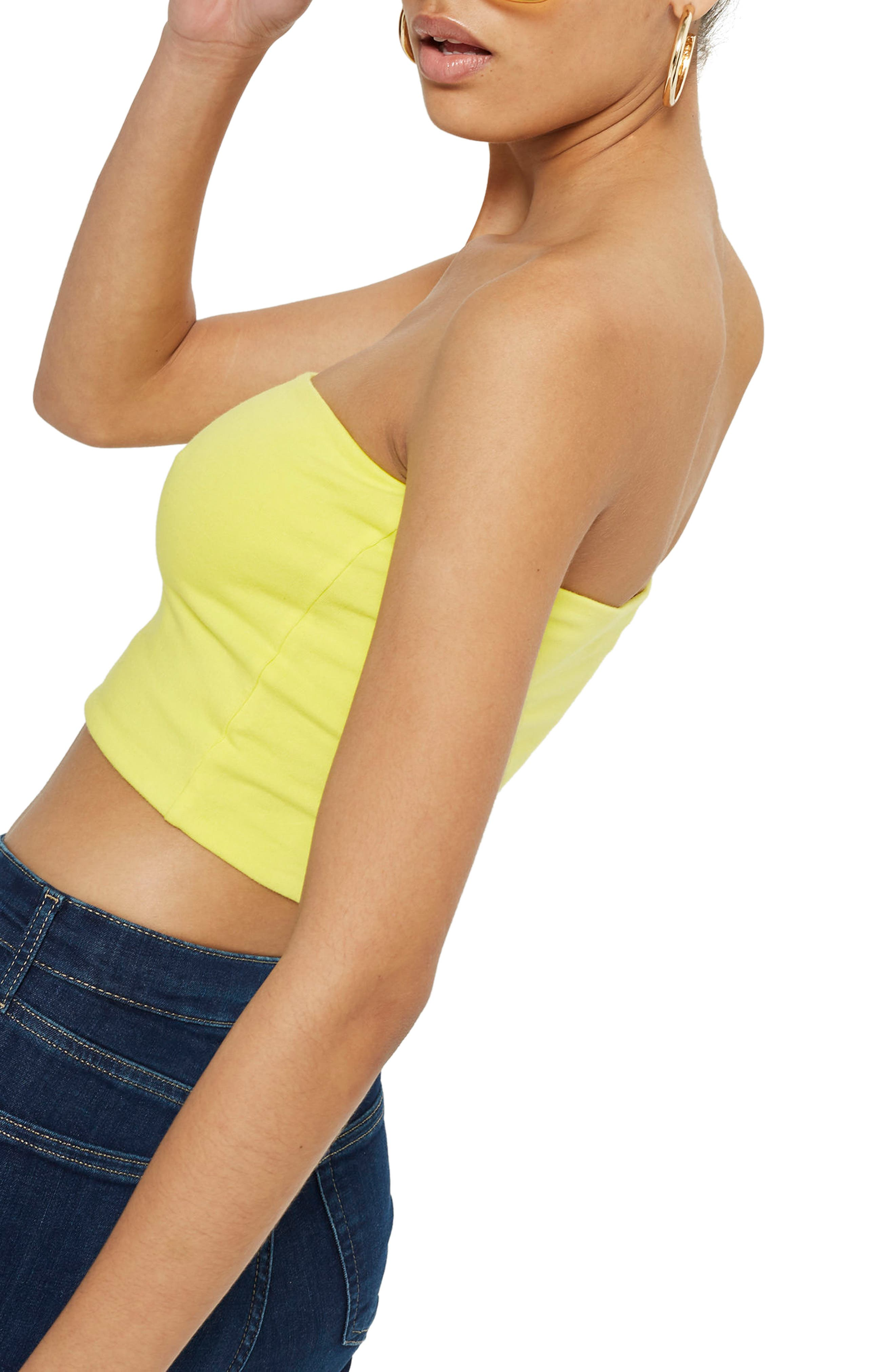 Solid Tube Top,                             Alternate thumbnail 3, color,                             Yellow