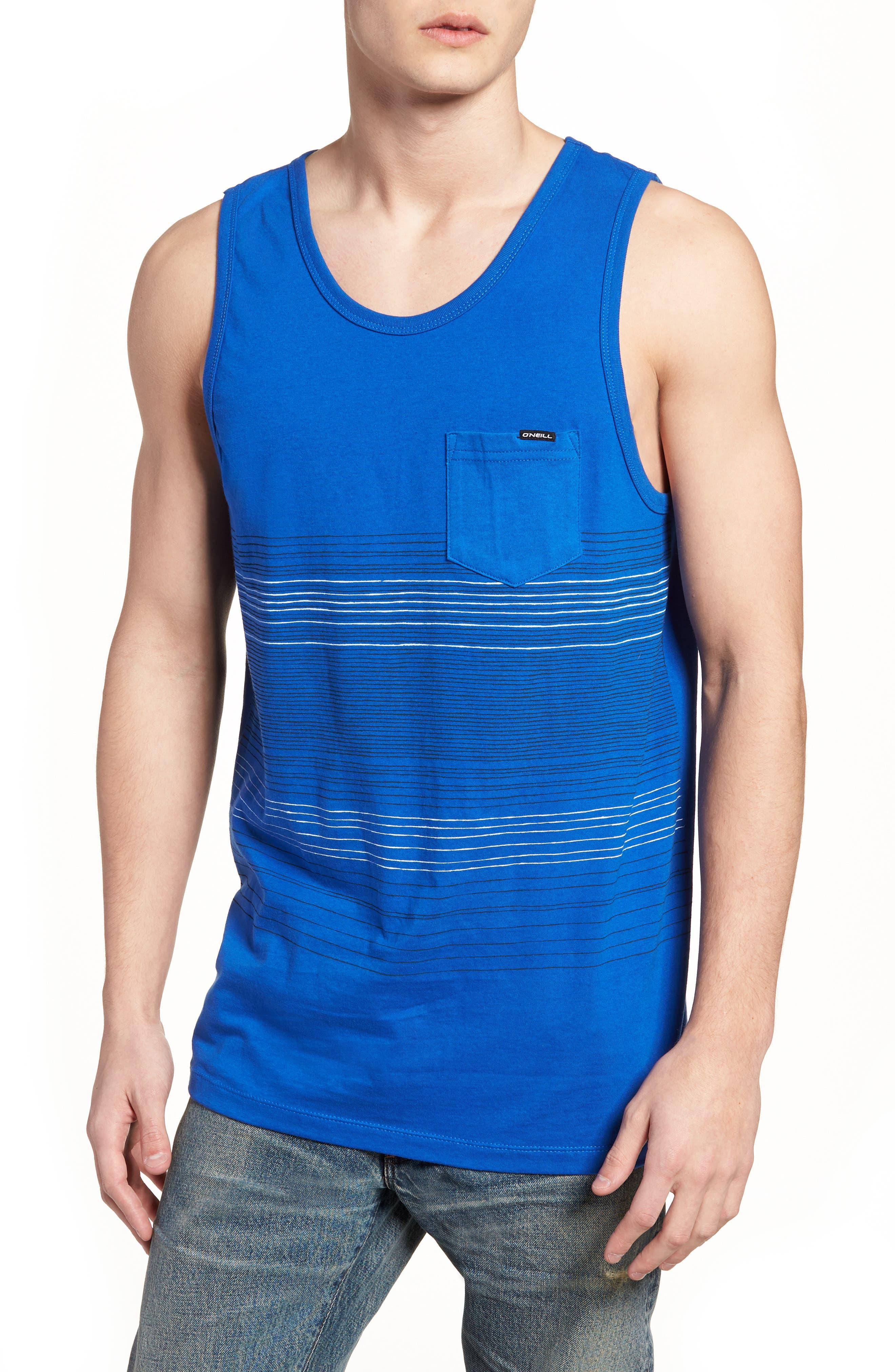 Sketchy Tank,                         Main,                         color, Brilliant Blue