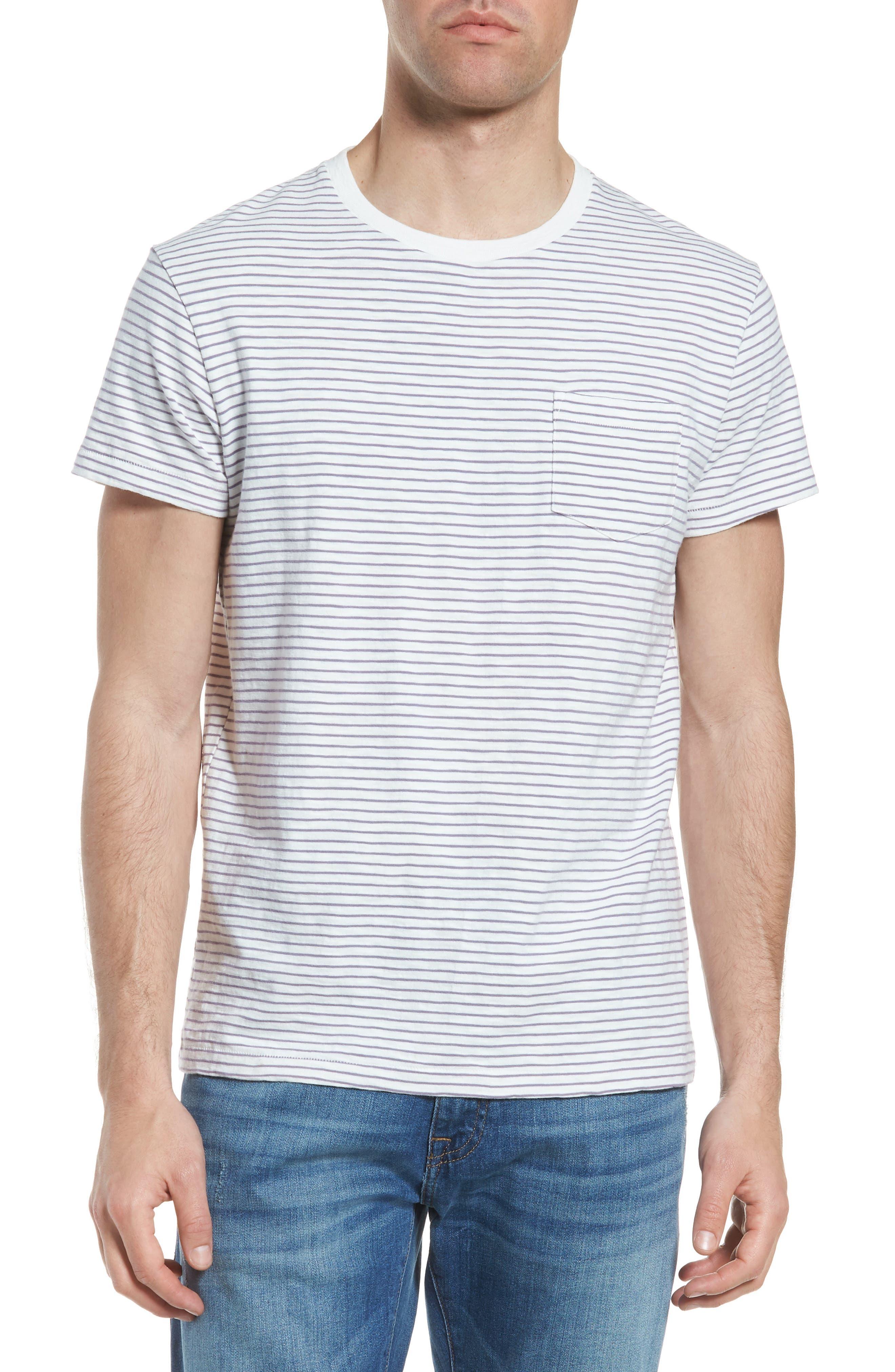 Malaga Cove Stripe T-Shirt,                             Main thumbnail 1, color,                             Antique White