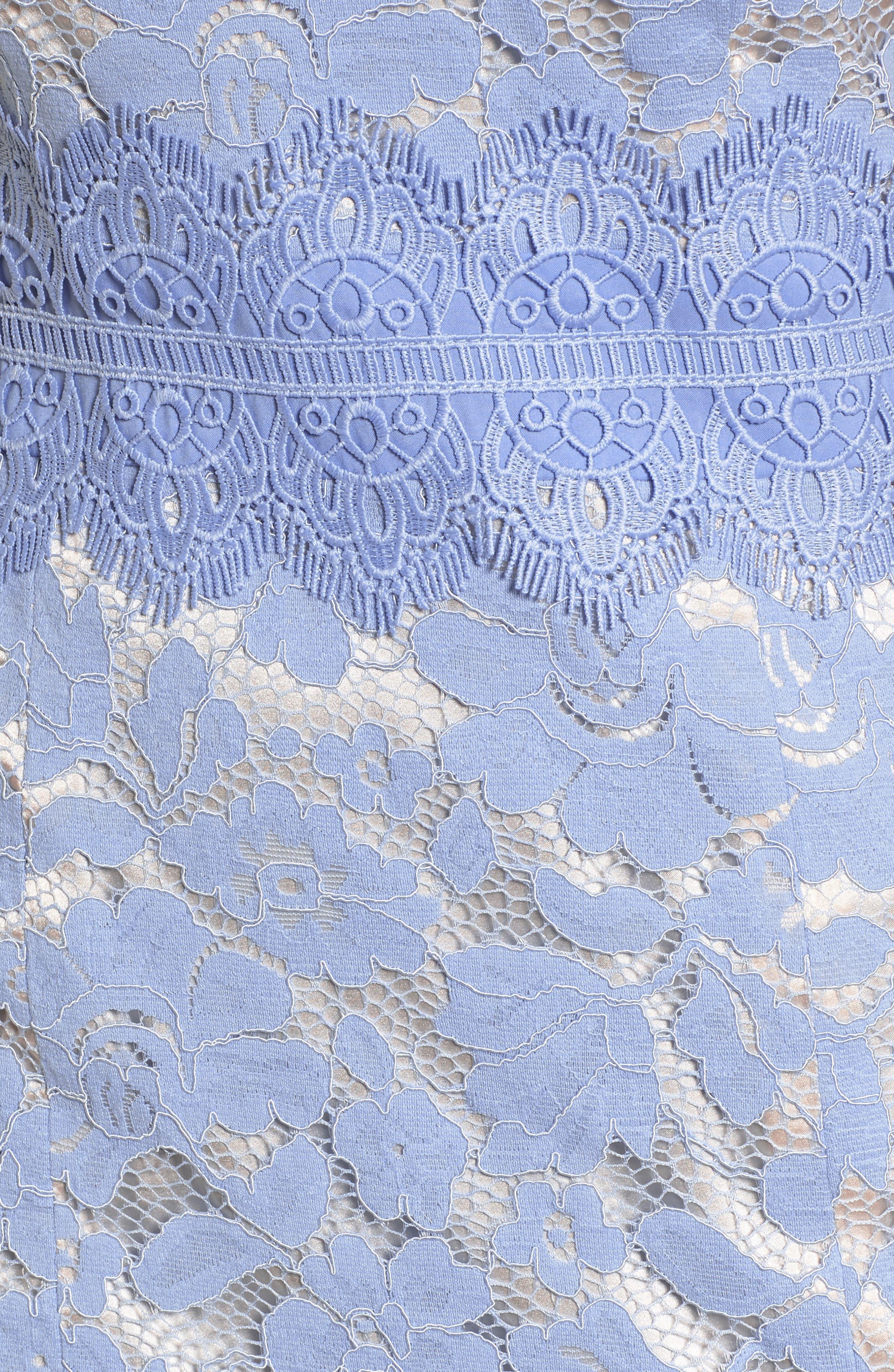 Alternate Image 5  - Vince Camuto Lace Sheath Dress (Regular & Petite)