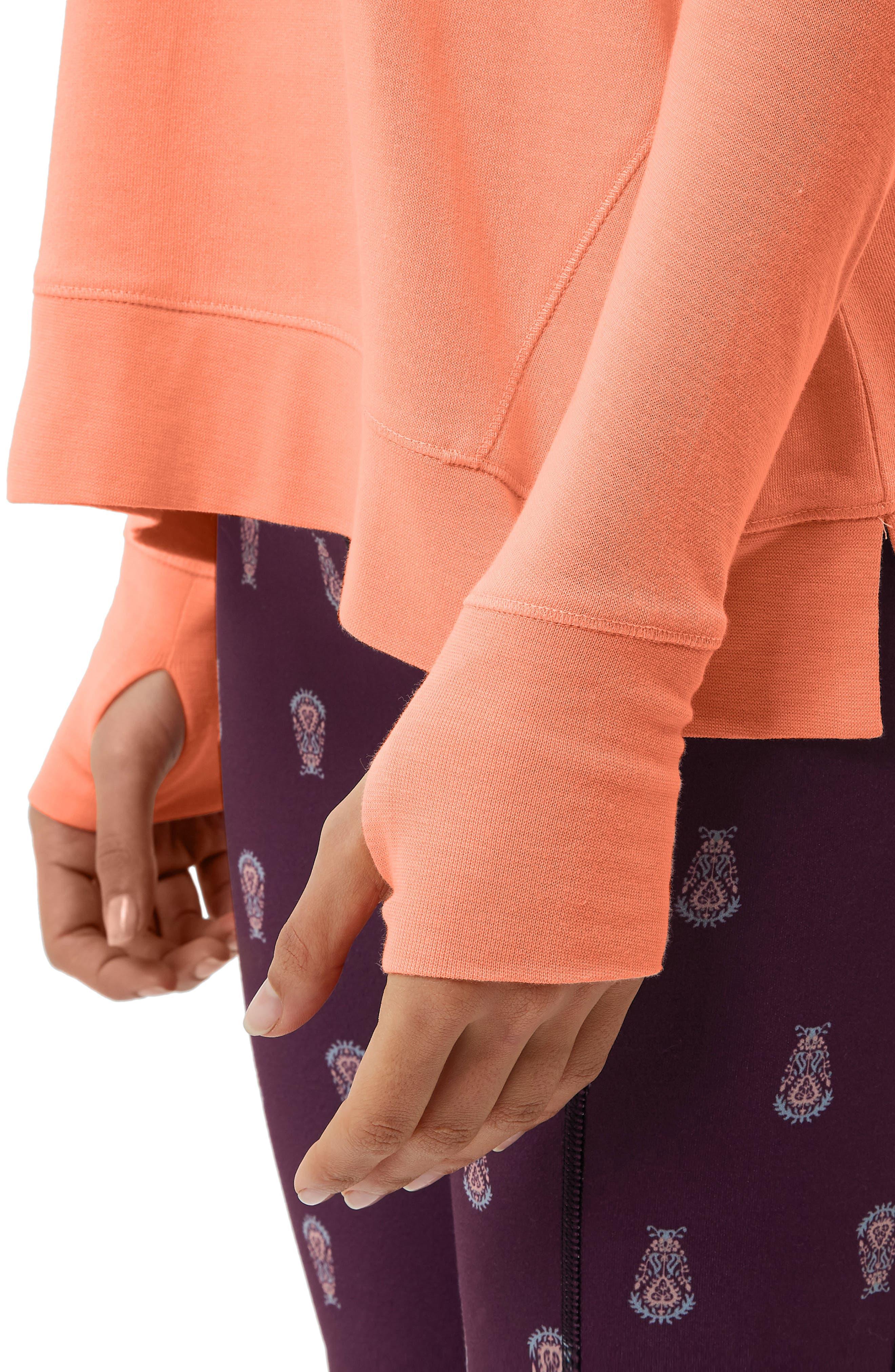 Simhasana Sweatshirt,                             Alternate thumbnail 4, color,                             Papaya Punch