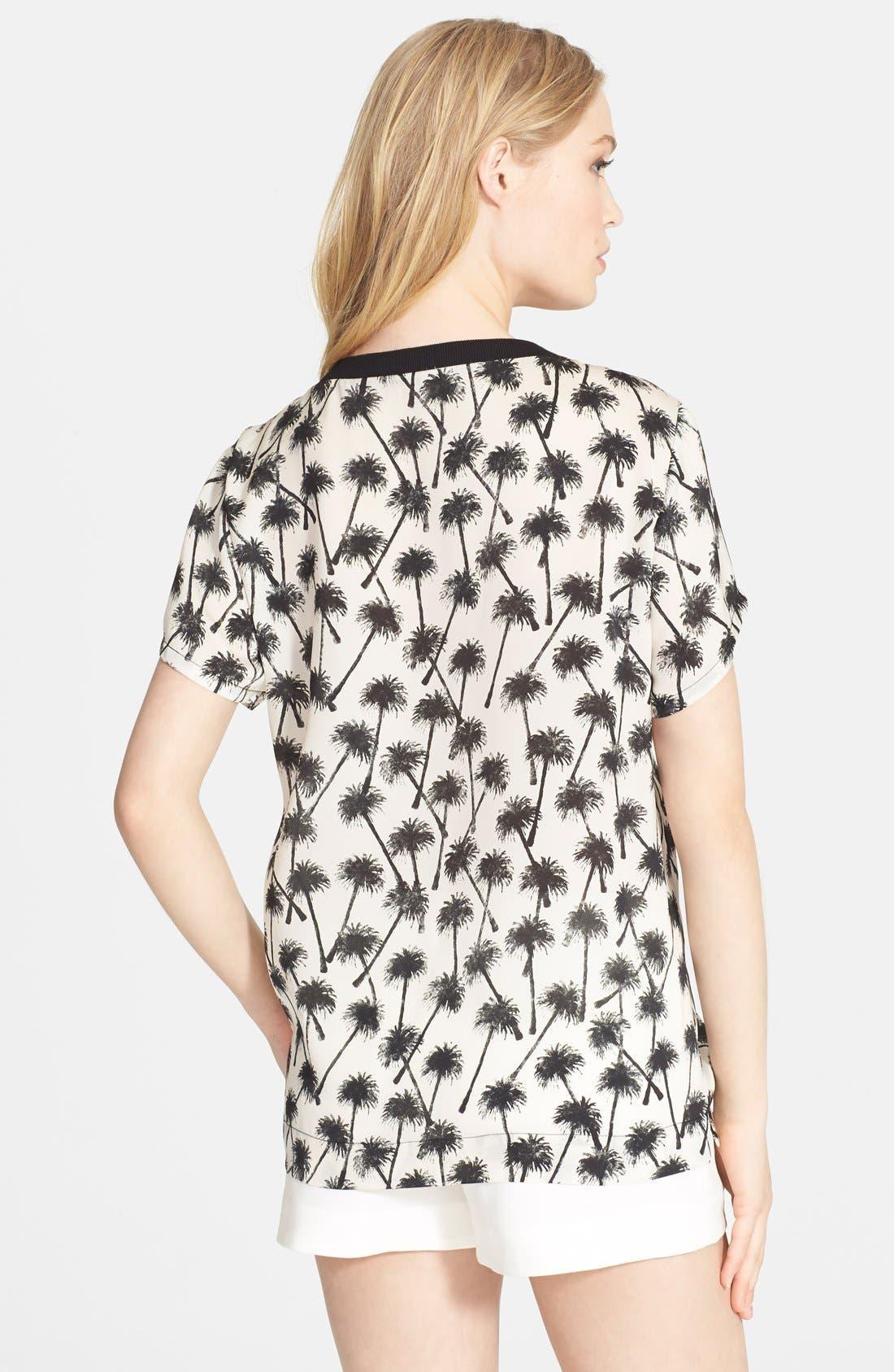Alternate Image 2  - L'AGENCE Palm Print Shirt