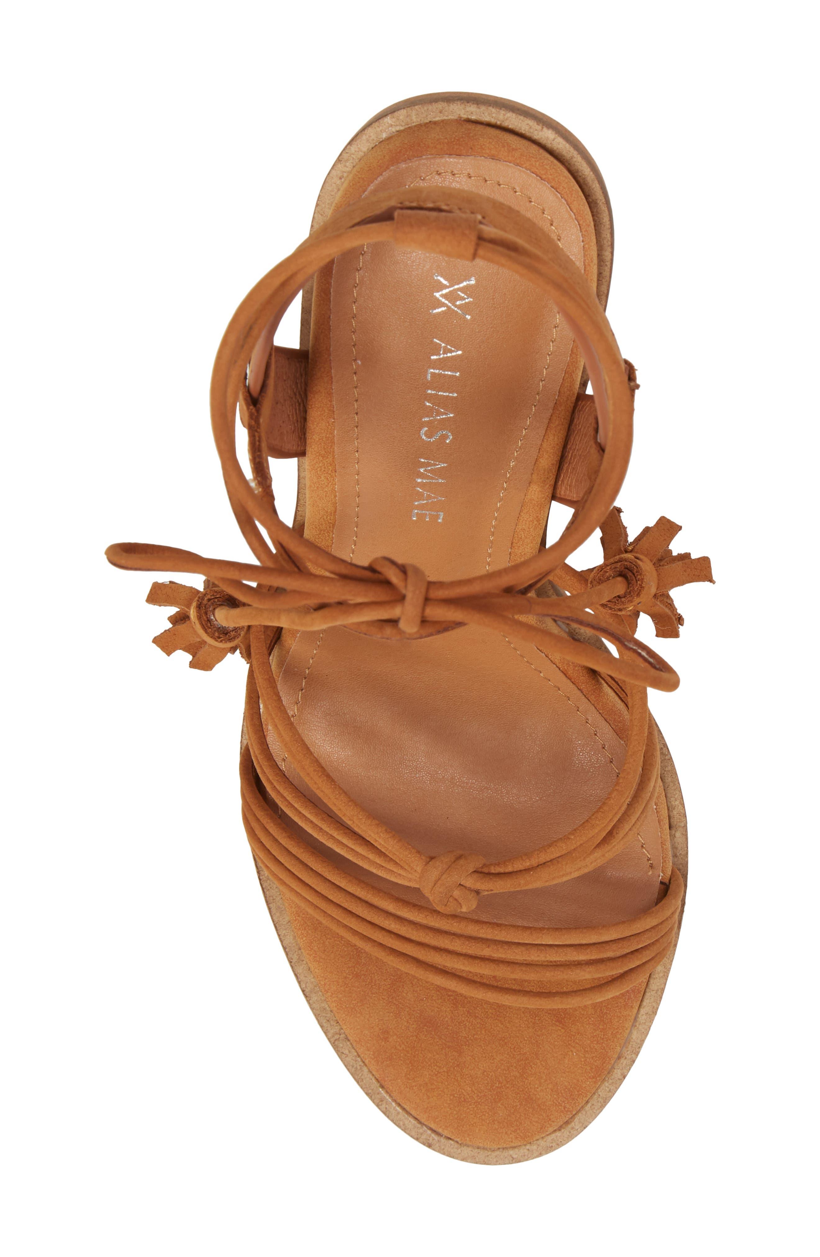 Adagio Sandal,                             Alternate thumbnail 5, color,                             Tan Leather