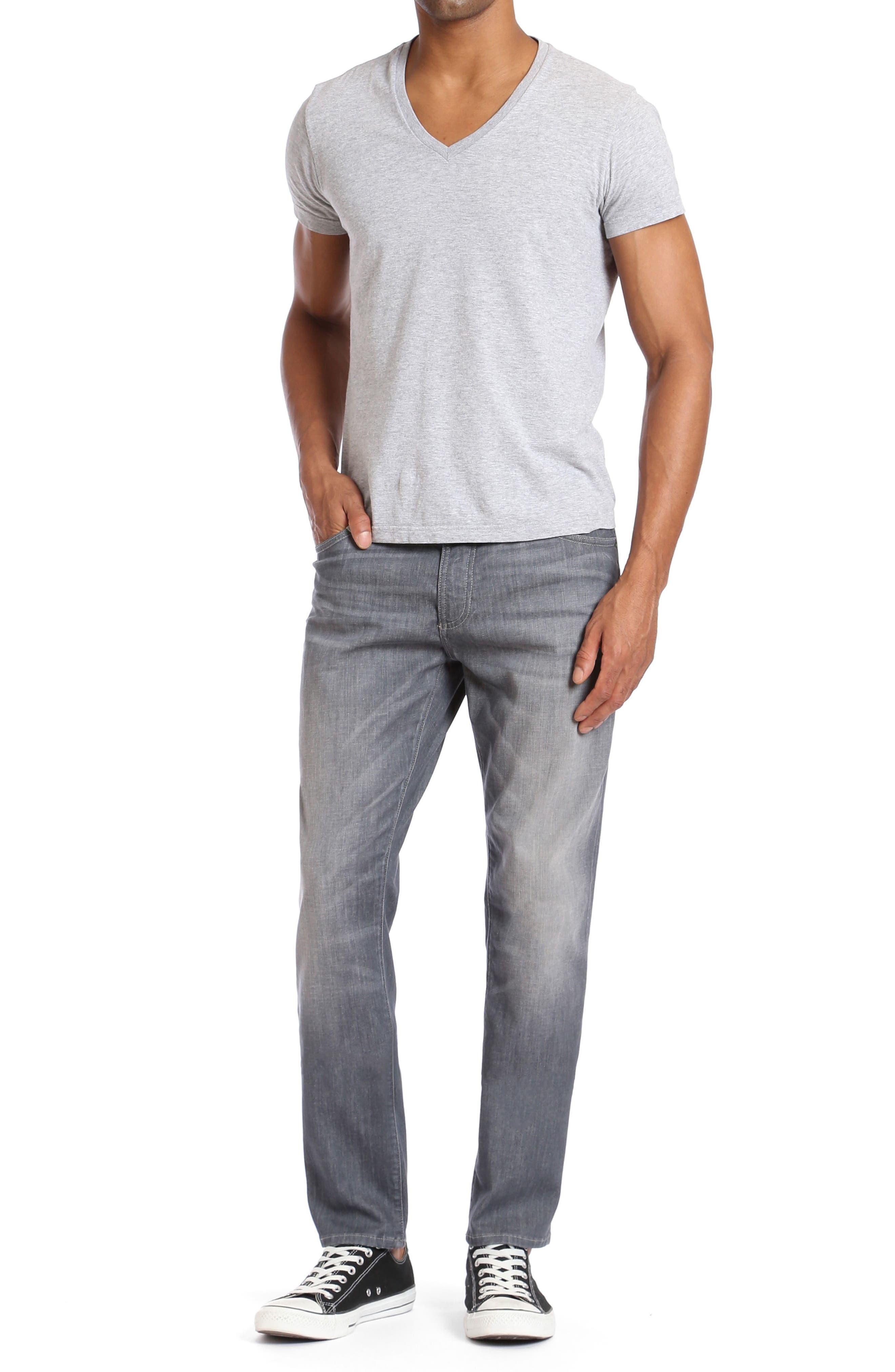 Alternate Image 4  - Mavi Jeans Marcus Slim Straight Leg Jeans (Light Grey White Edge)