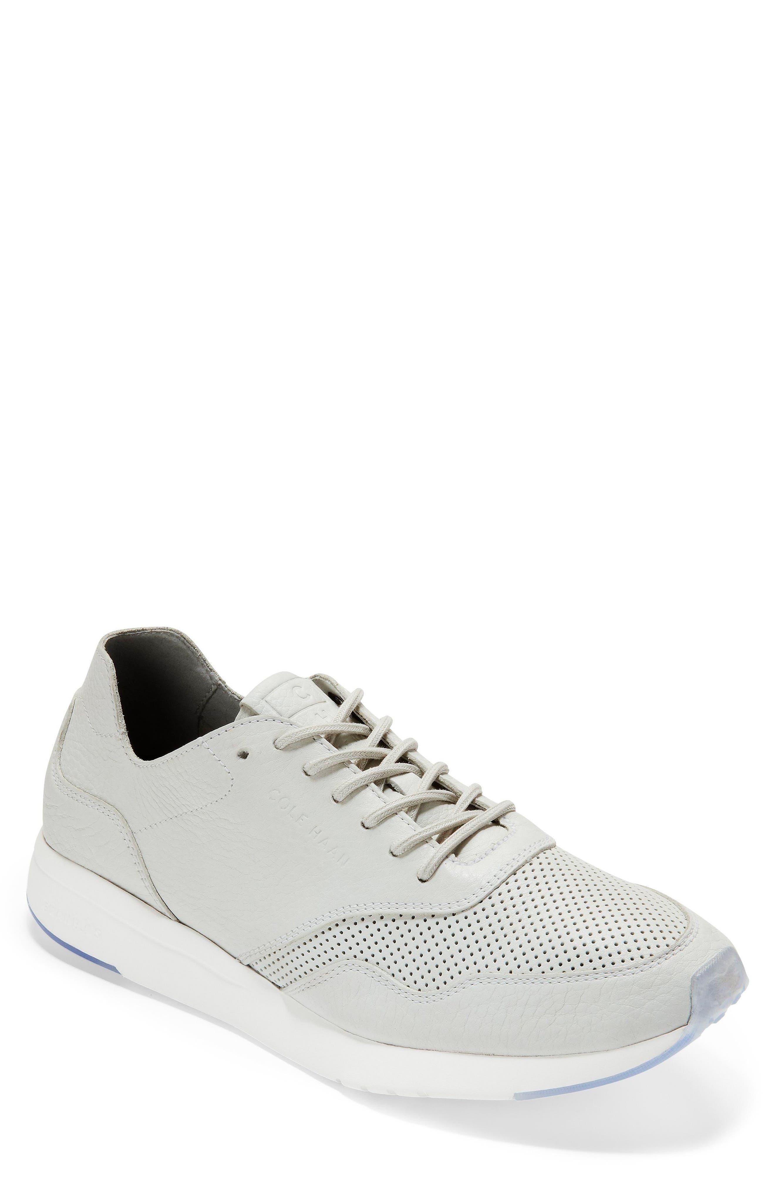 GrandPrø Deconstructed Running Sneaker,                         Main,                         color, White Leather