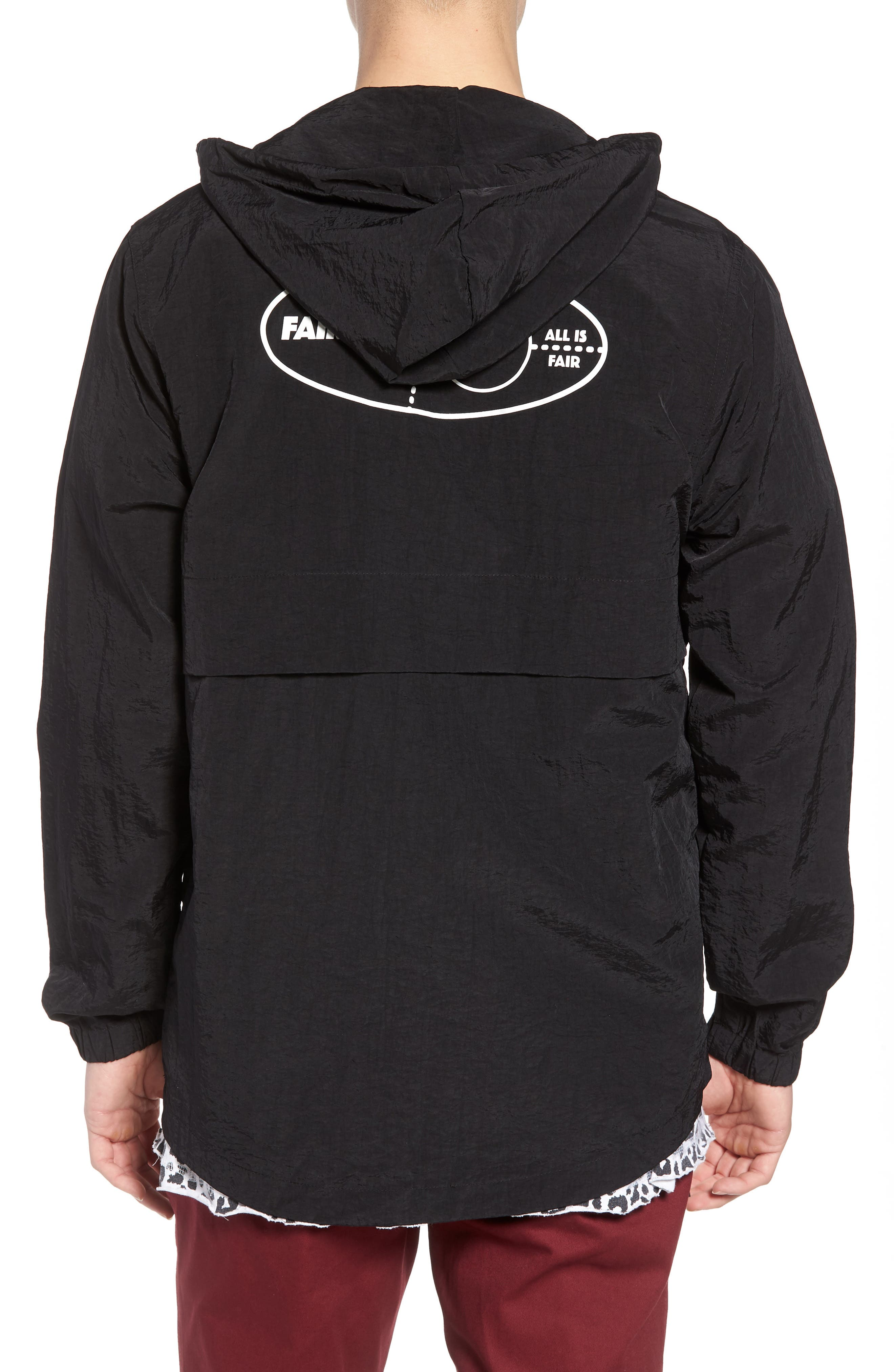 Tillman Packable Anorak Jacket,                             Alternate thumbnail 2, color,                             Black