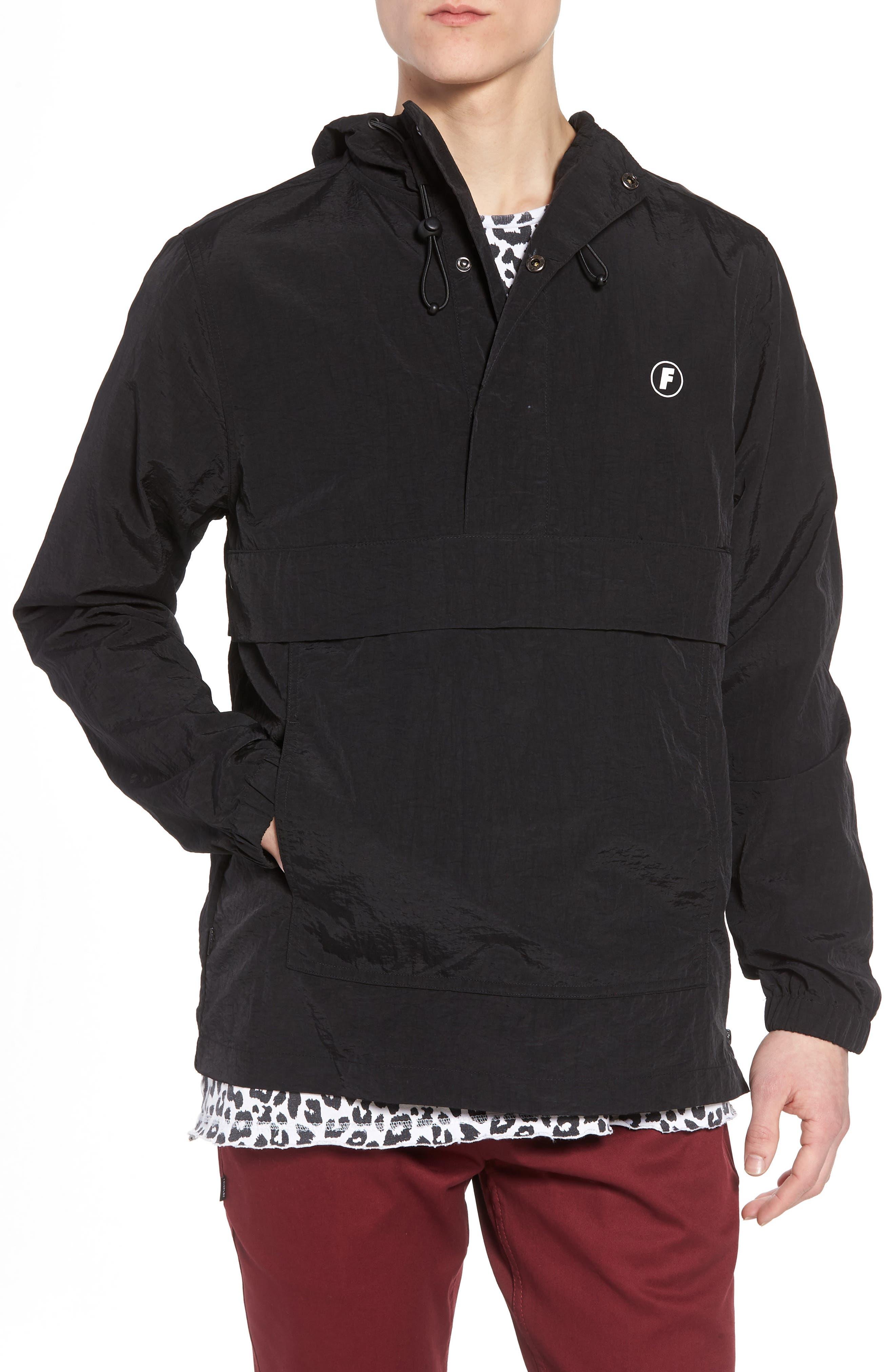 Tillman Packable Anorak Jacket,                             Main thumbnail 1, color,                             Black